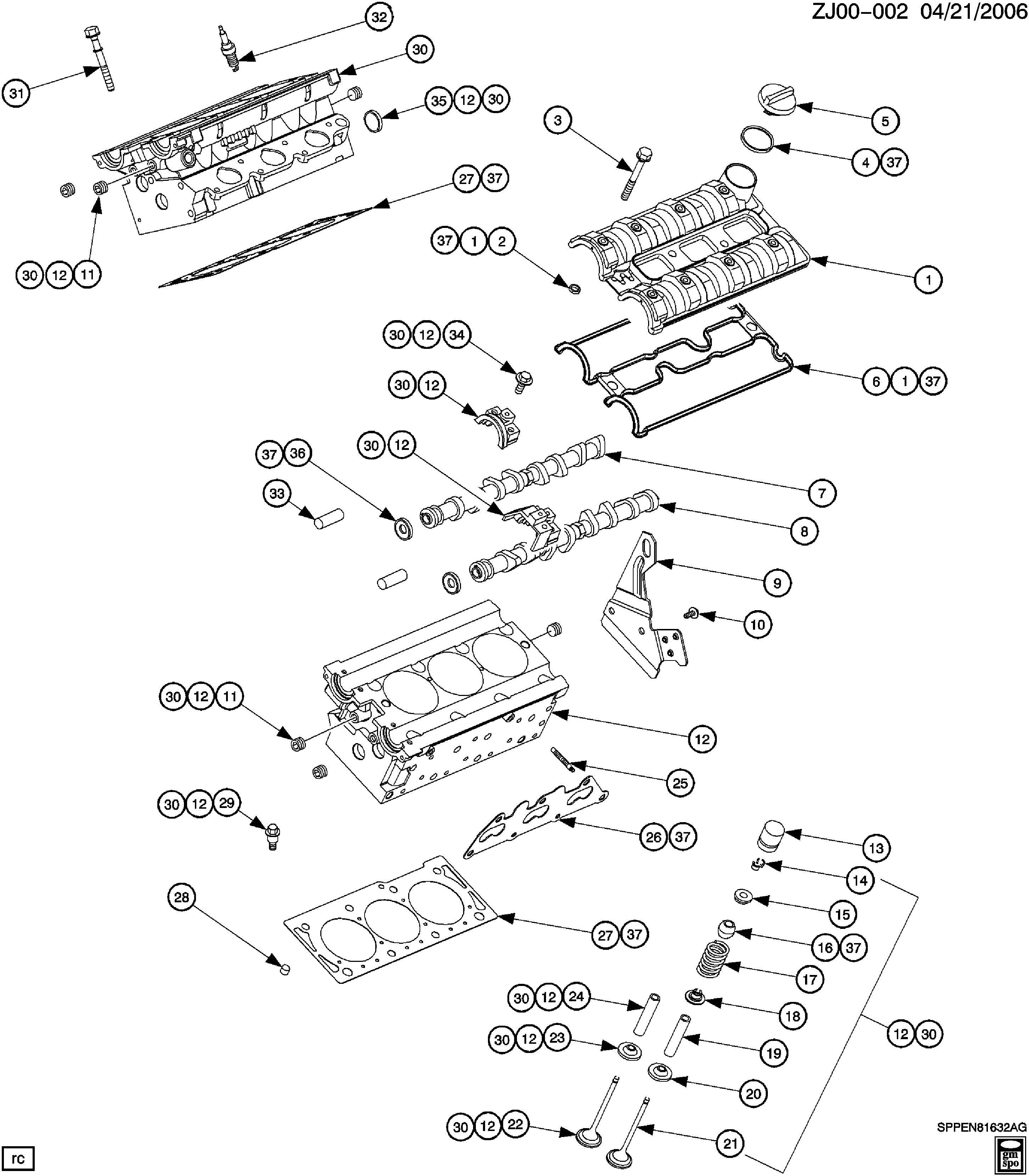 [SCHEMATICS_48DE]  Saturn L-Series - J ENGINE ASM-3.0L V6 CYLINDER HEAD AND RELATED PARTS(L81/3.0R)  > EPC Online > Nemiga.com | L81 Engine Diagram |  | nemigaparts.com