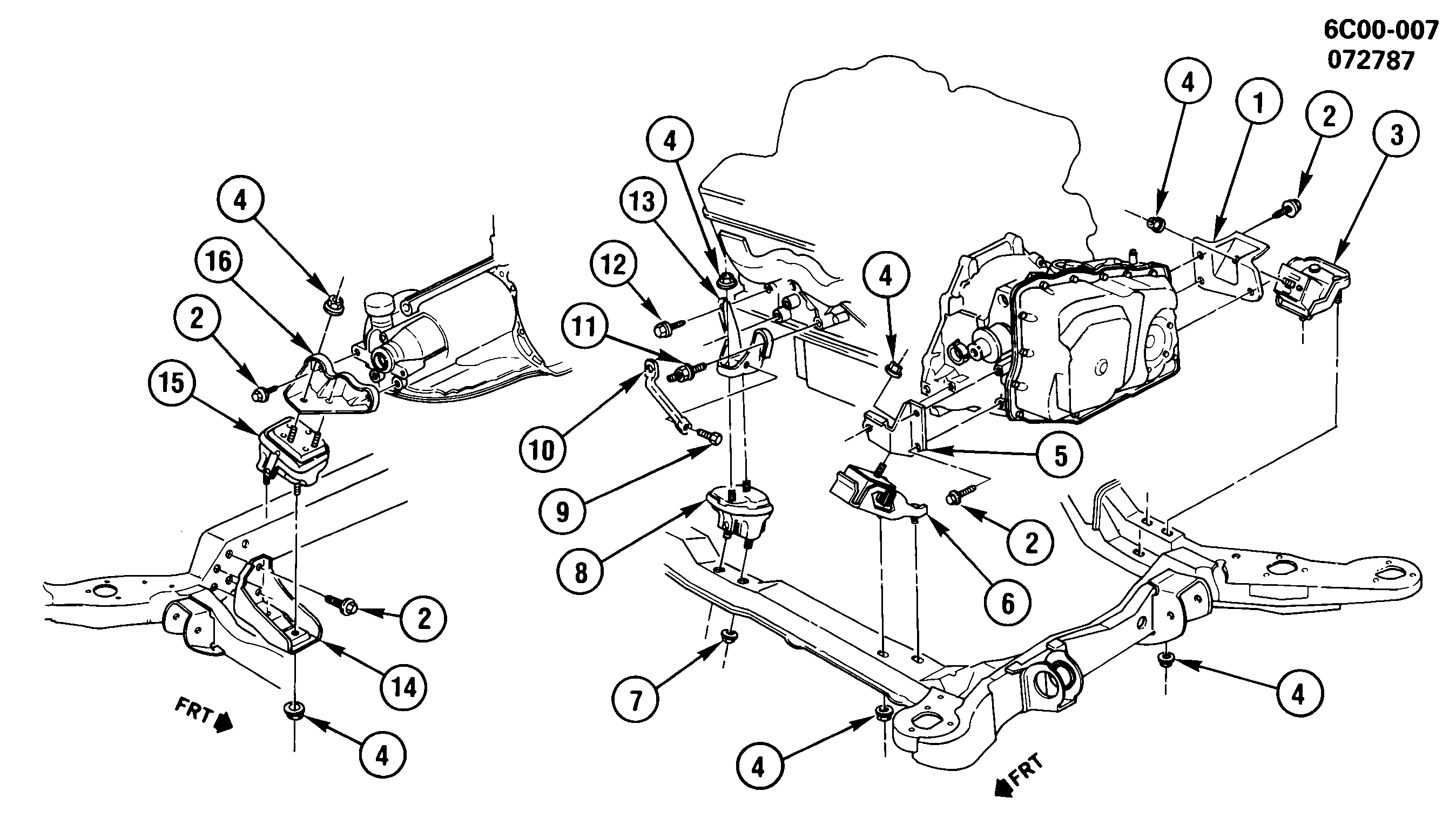 Cadillac Deville - C ENGINE & TRANSMISSION MOUNTING-V8 4.5L (LR6/4.5-5) >  EPC Online > Nemiga.comParts catalogs