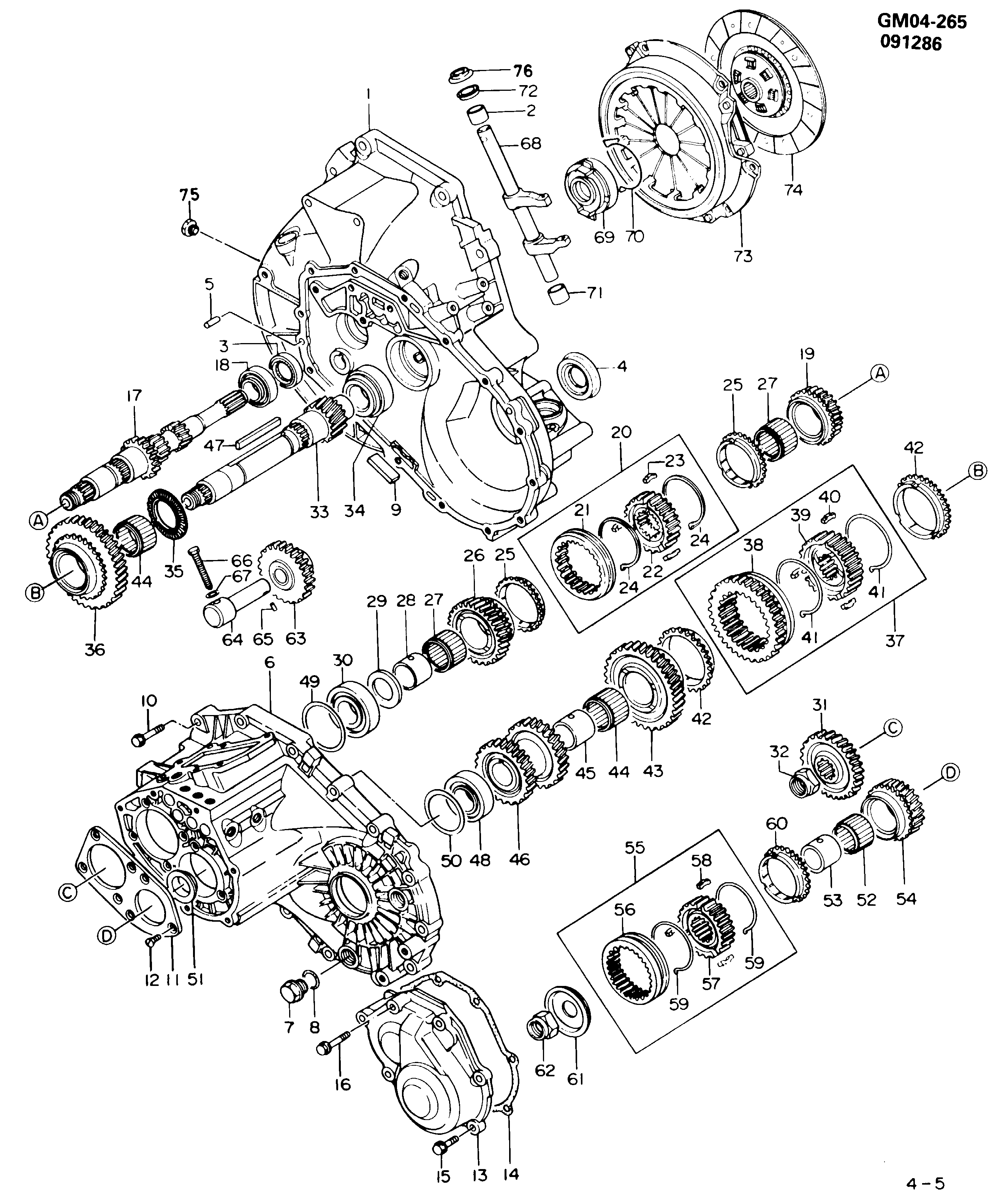 P 5-SPEED MANUAL TRANSAXLE PART 1 (MT2) (ISUZU)
