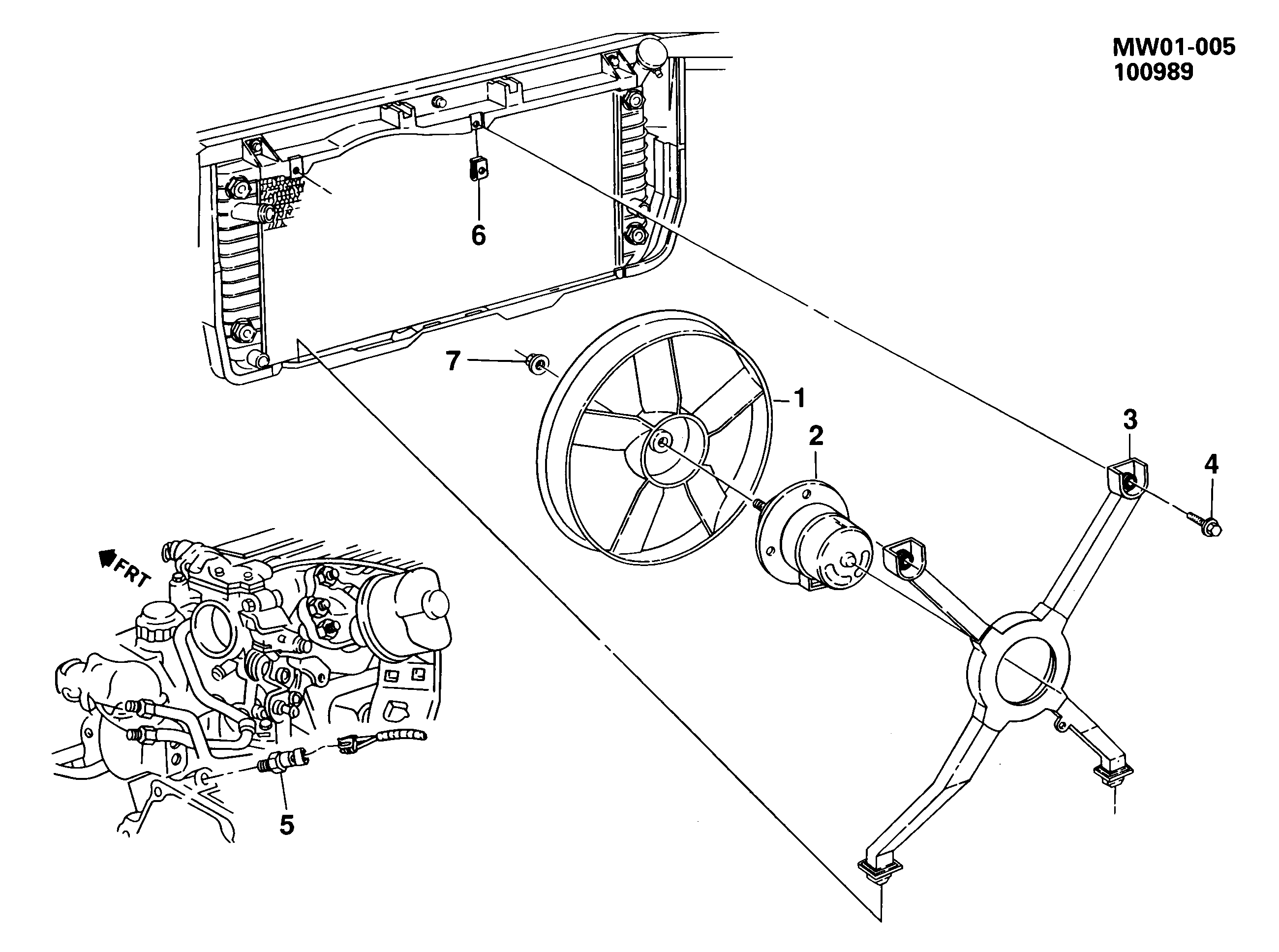 Pontiac Grand Prix W Engine Coolant Fan Single Epc Online Spare Parts Catalog