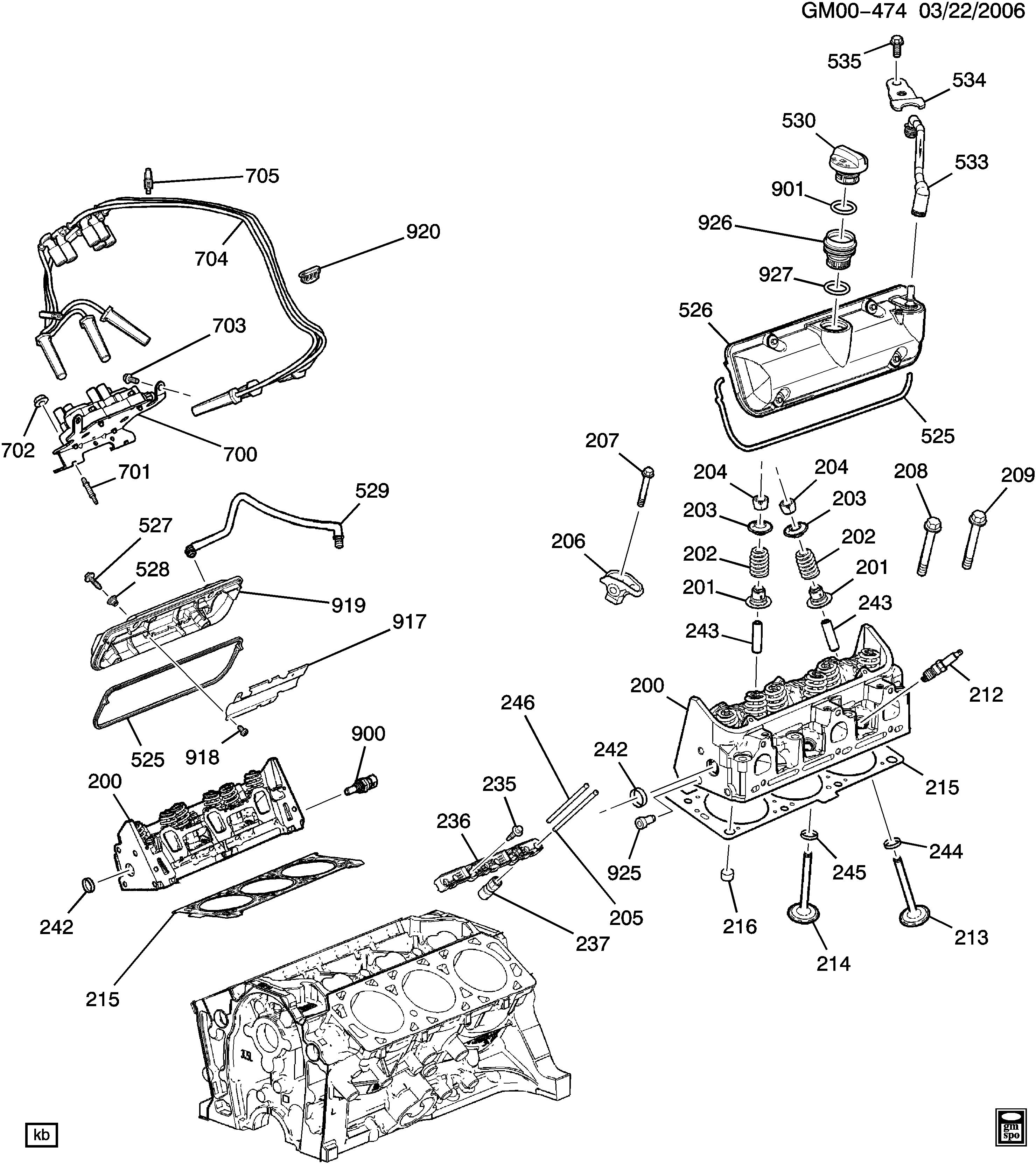 pontiac g6 - z engine asm-3.5l v6 part 2 cylinder head and related parts ( lx9/3.5-8) > epc online > nemiga.com  nemigaparts.com