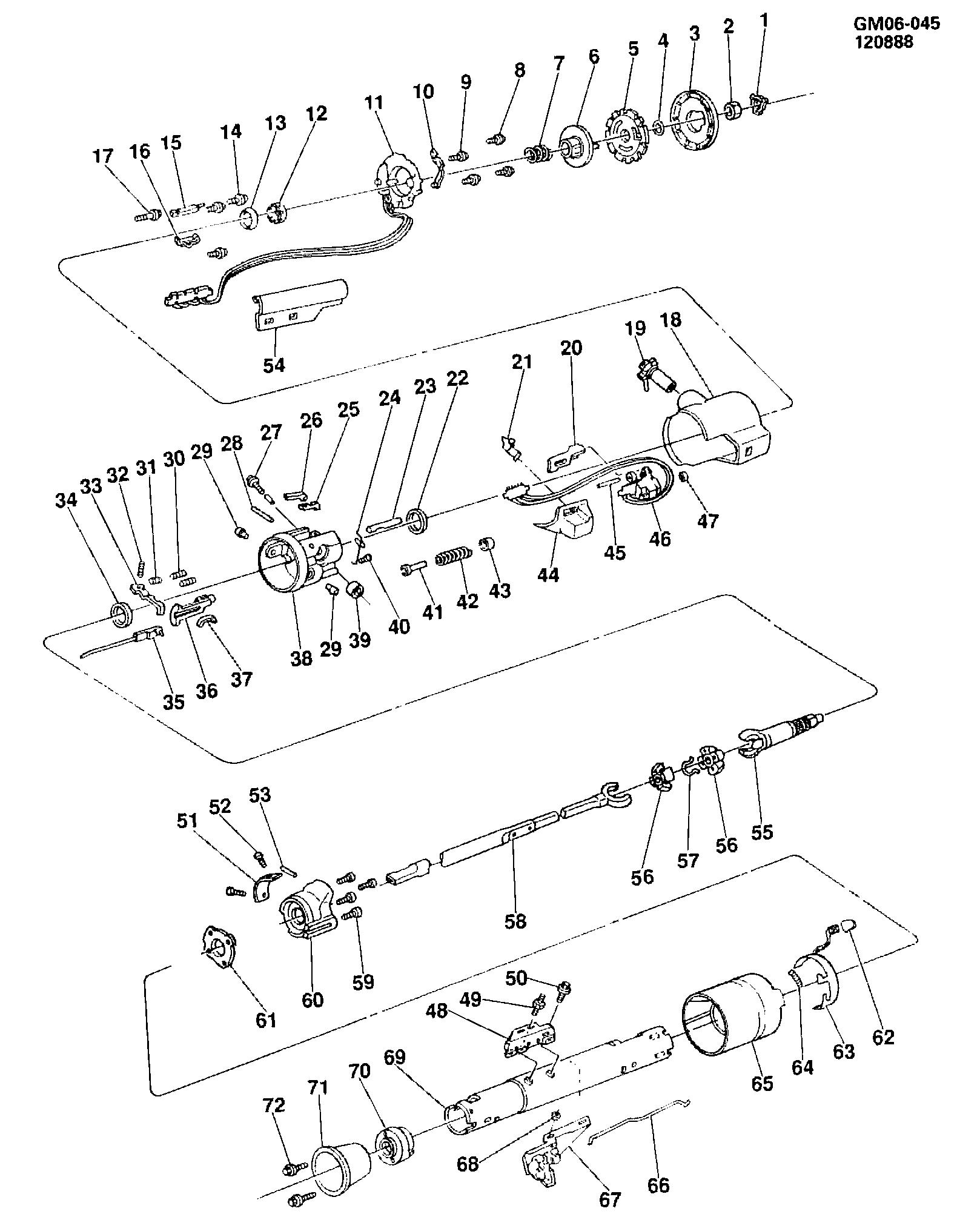 Buick Skylark - X STEERING COLUMN/TILT (F/S, M T ) > EPC