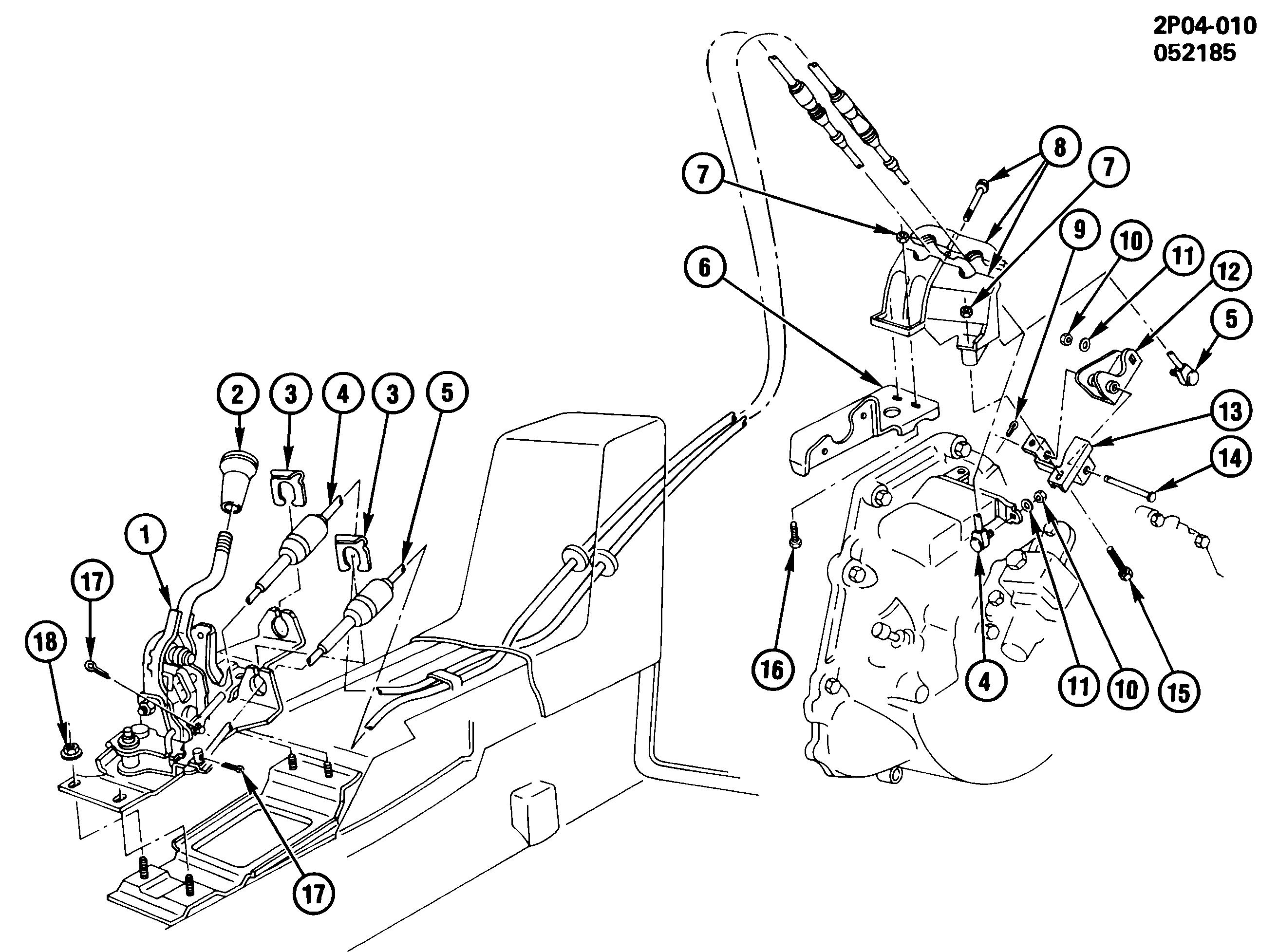 Fiero Parts Diagram Wiring Schematics Backup Light Diagrams Pontiac P Shift Controls Manual Transmission Floor Mt2 Racing