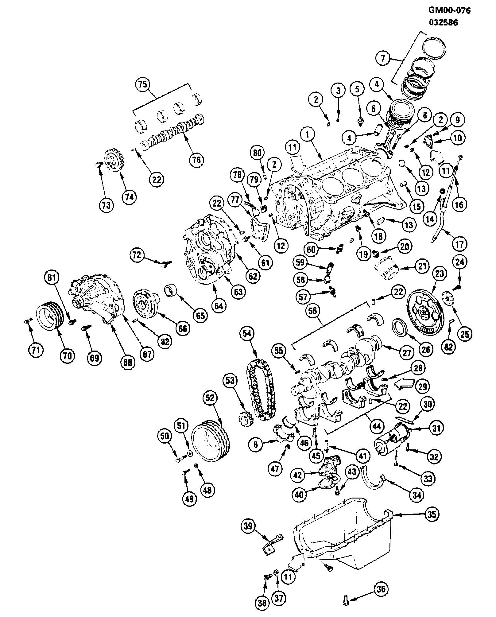 Oldsmobile Cutlass Ciera (FWD) - A ENGINE ASM-2.8L V6 PART 1 (LB6/2.8W) >  EPC Online > Nemiga.com   Chevy 2 8l V6 Engine Diagram      Parts catalogs