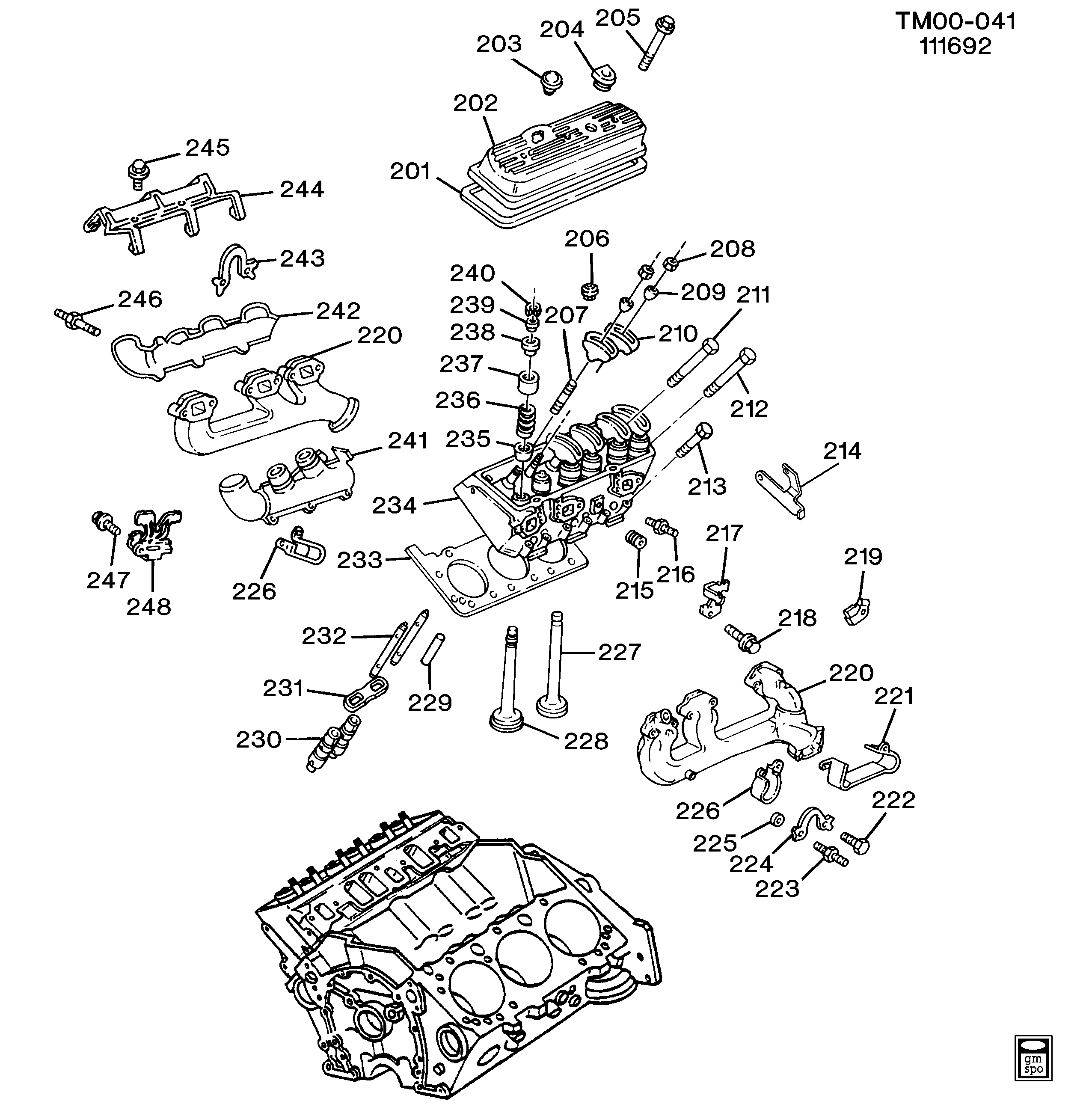 Chevy 4 3 V6 Engine Head Diagram