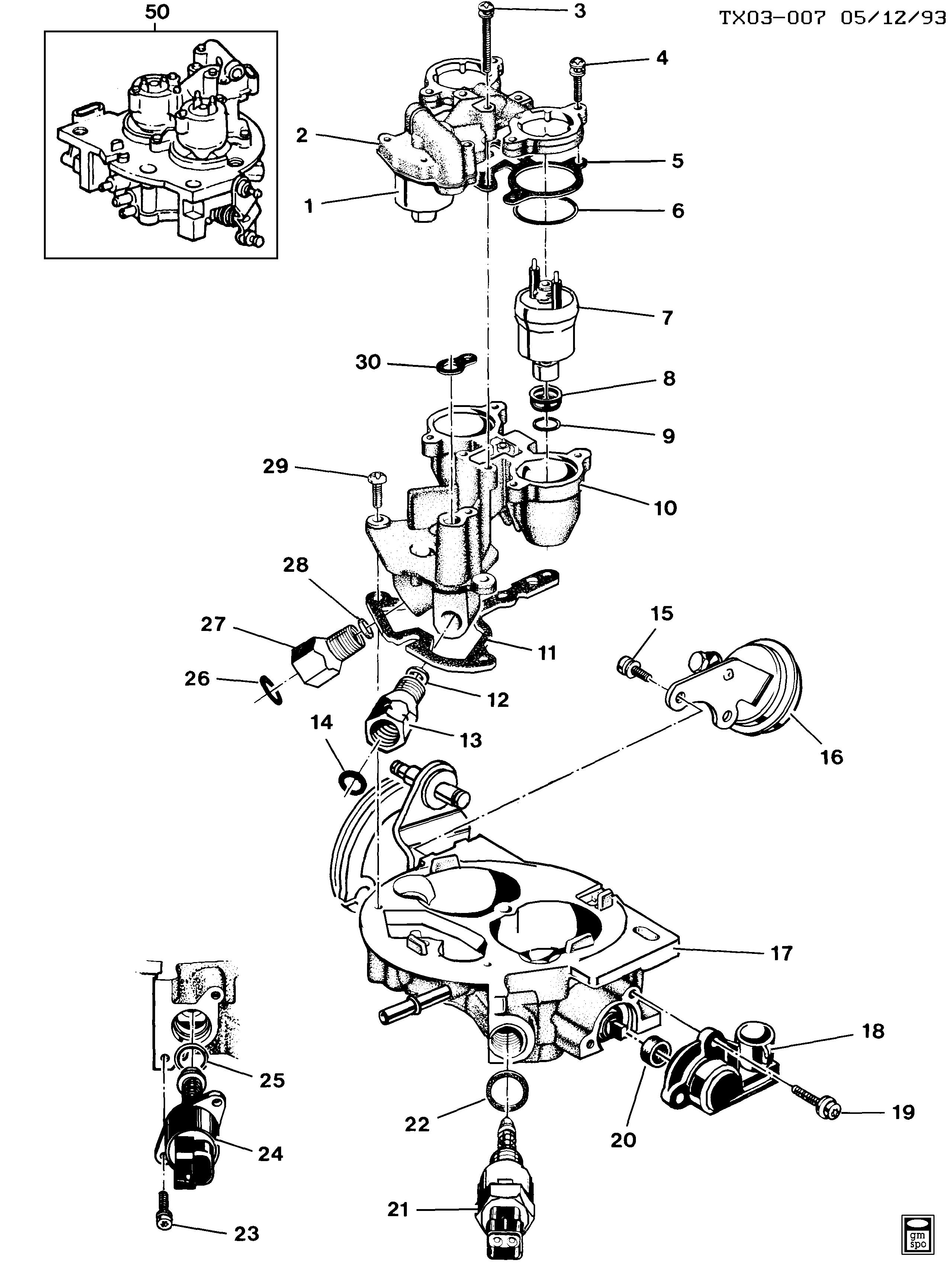 P30 VAN - Throttle body injection/dual injector > Chevrolet