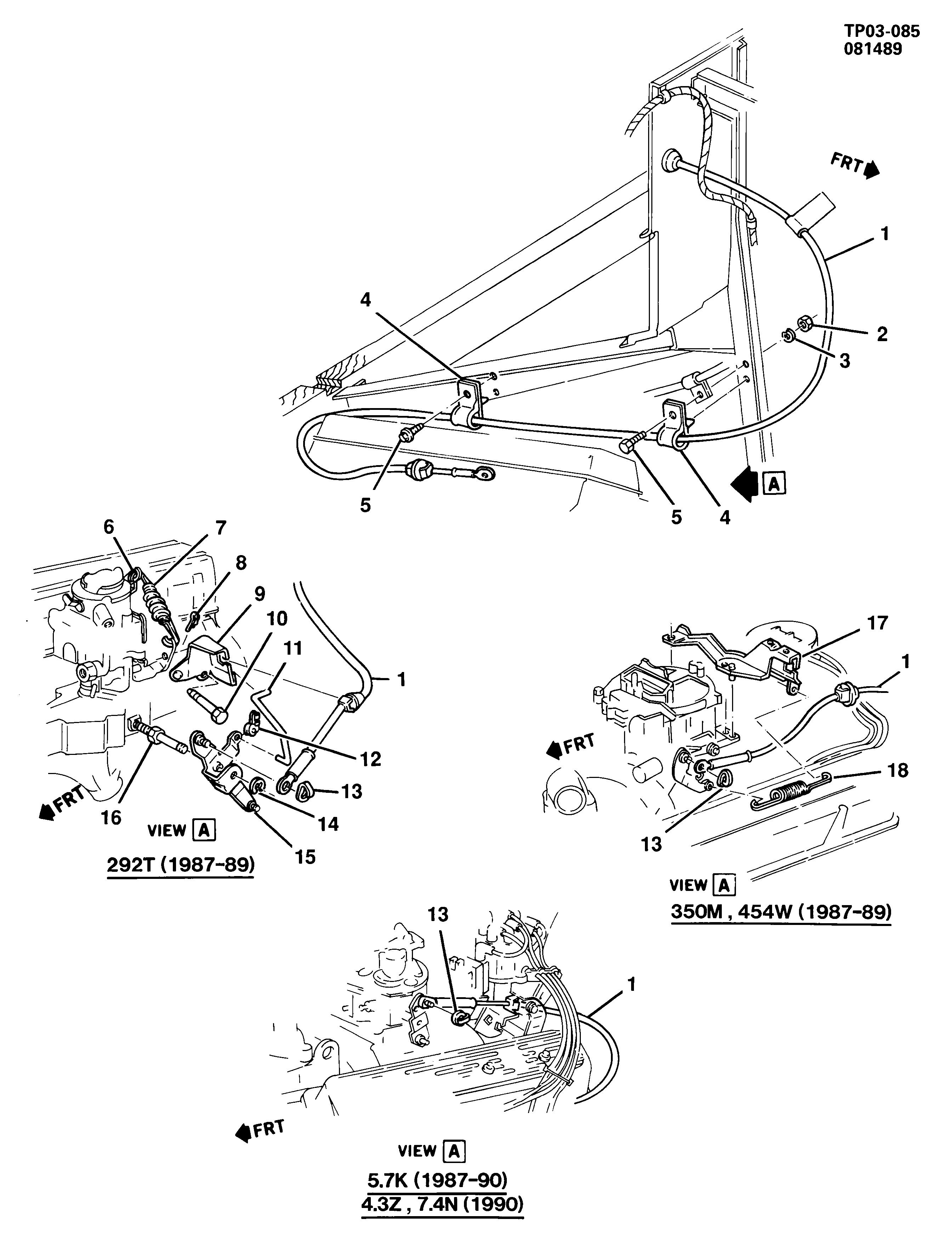 Gmc P25 P2500 Van P3 Accelerator Control Engine Compartment L25 Diagram Spare Parts Catalog Epc