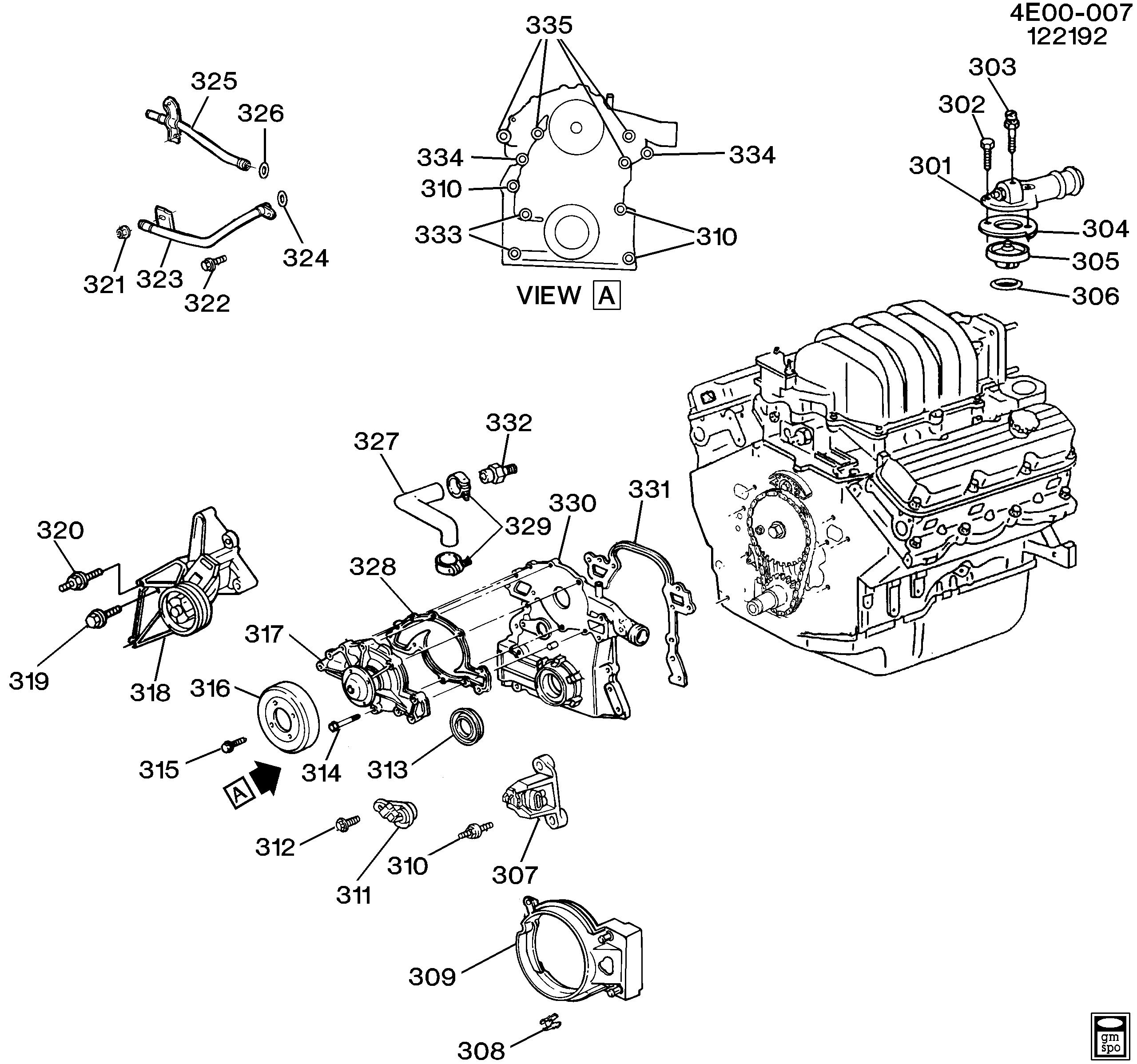 [DIAGRAM_3ER]  Buick Reatta - E ENGINE ASM-3.8L V6 PART 3 FRONT COVER AND COOLING  (L27/3.8L) > EPC Online > Nemiga.com | Gm 308 Engine Diagram |  | Parts catalogs