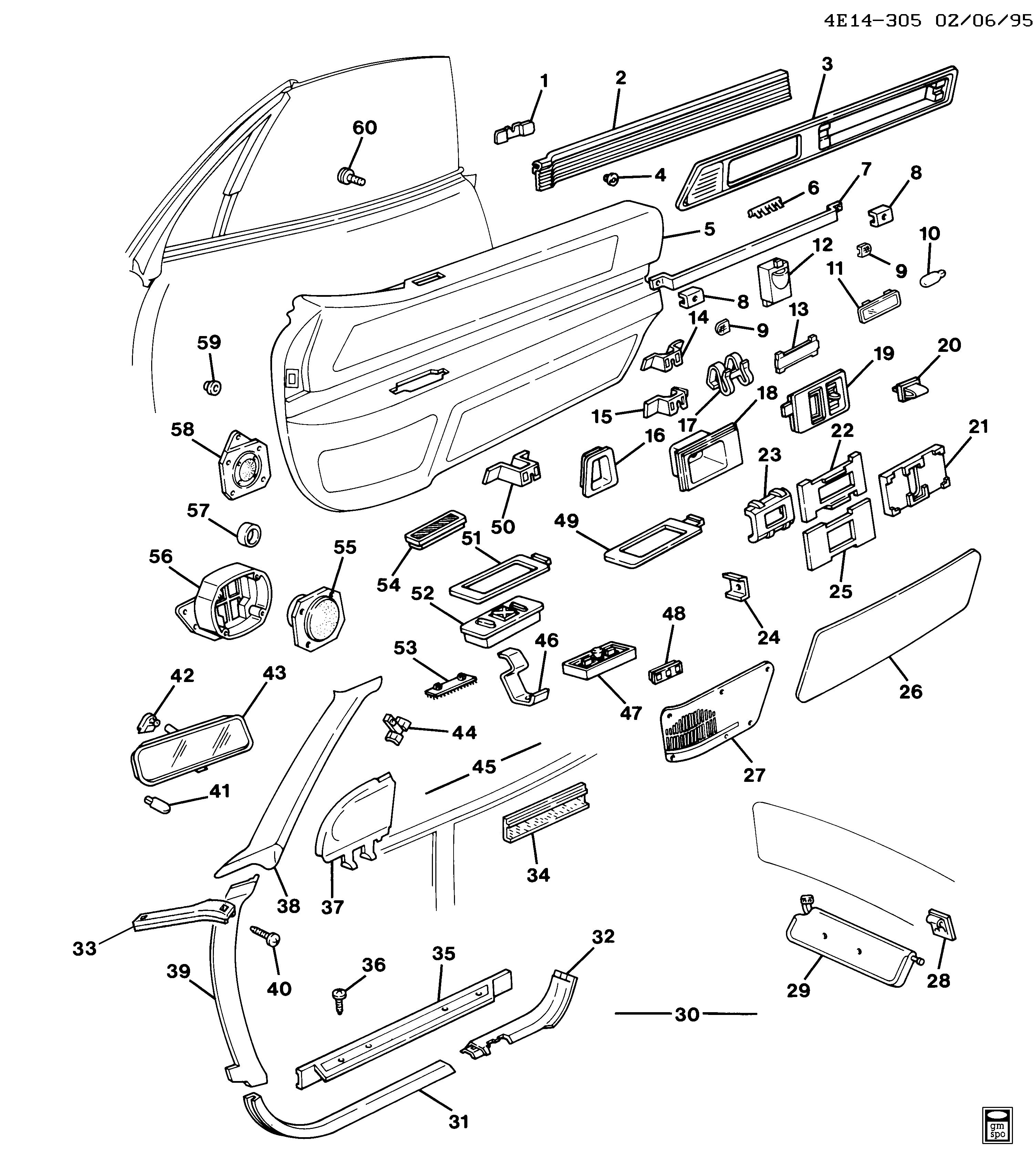 Buick Reatta Door Diagram Trusted Wiring Fuse Box E97 Trim Front U003e Epc Online Nemiga Com