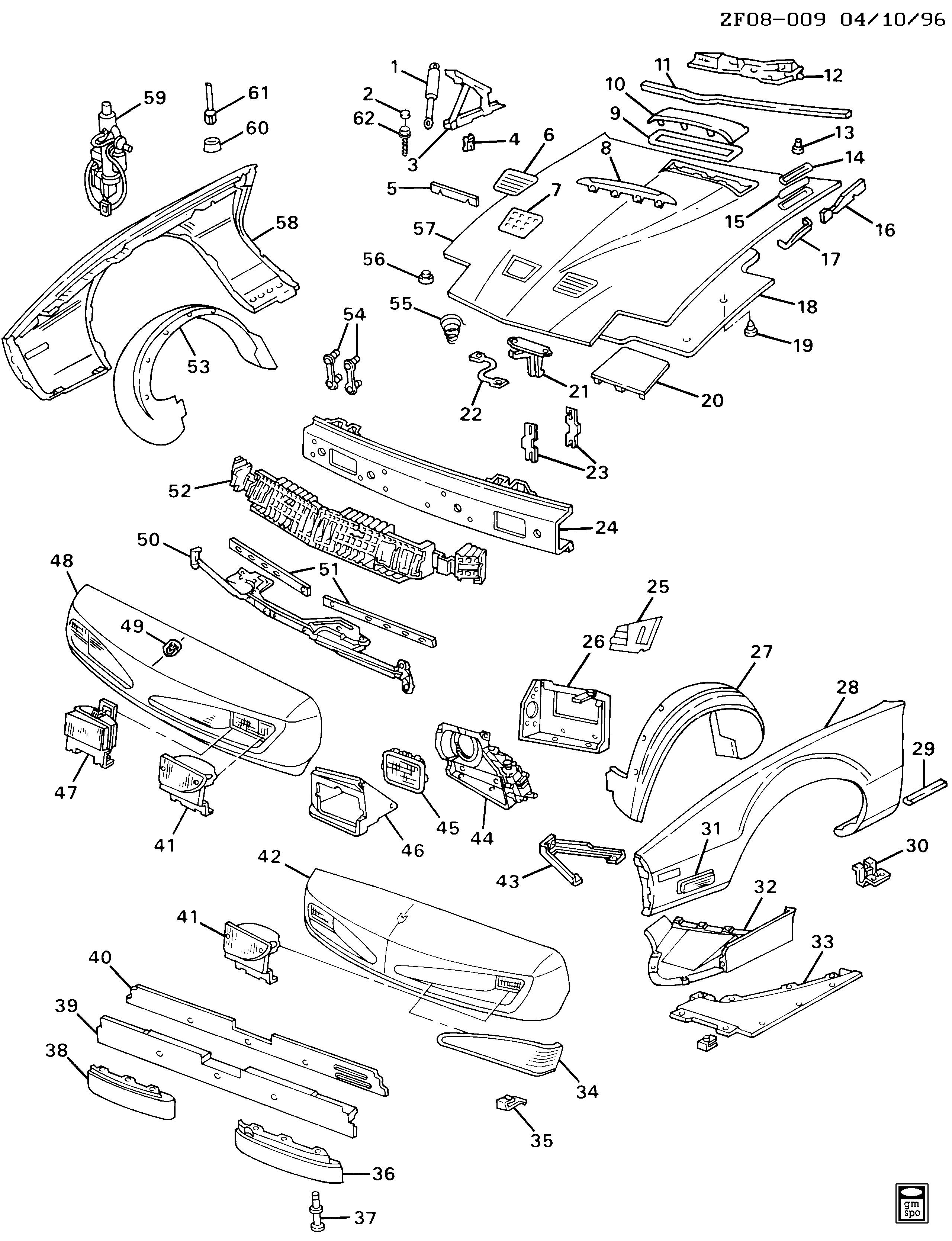 pontiac firebird f sheet metal front end part 1 epc online 96 Firebird Gauges f sheet metal front end part 1