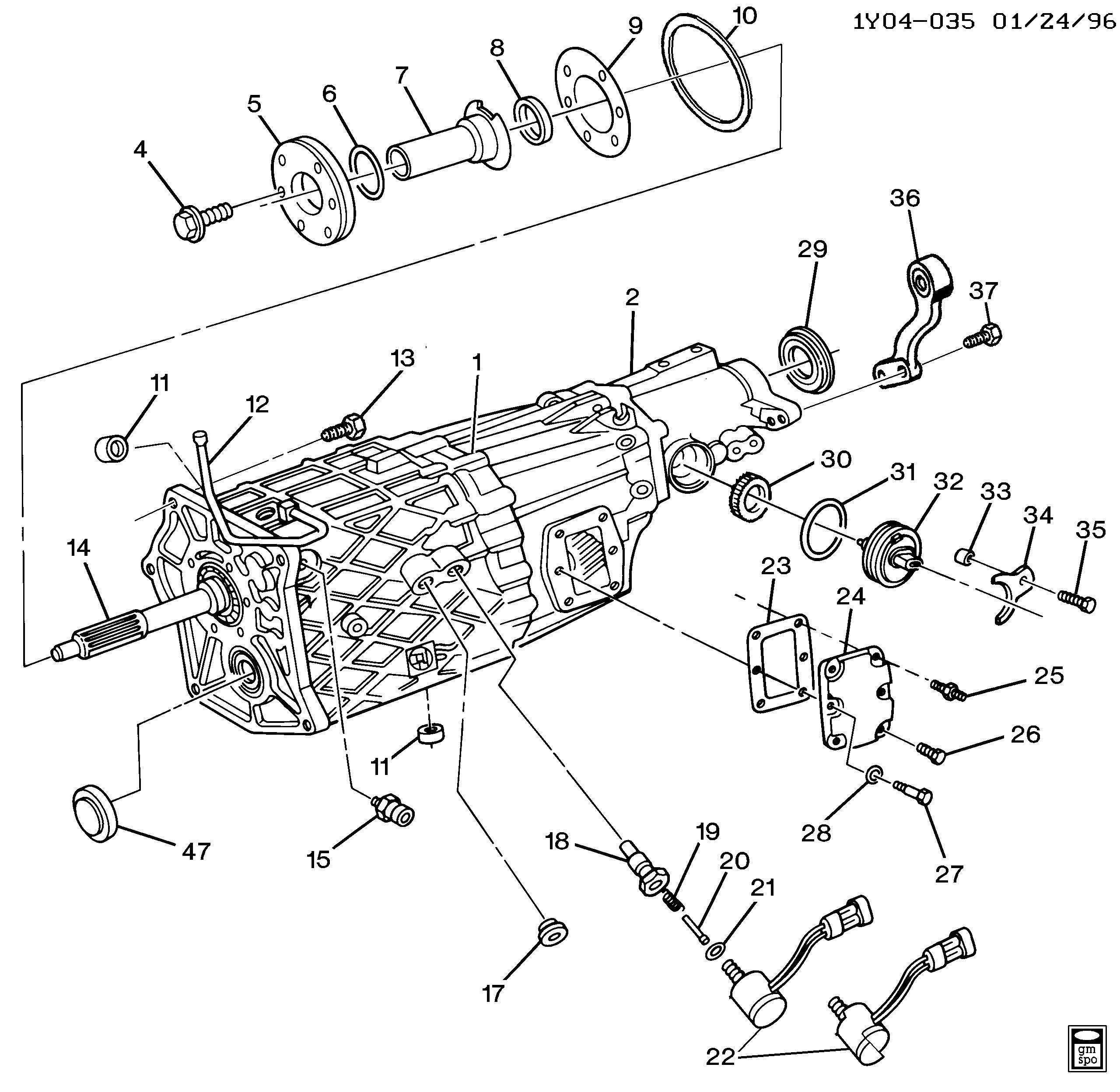Corvette - 6-speed manual transmission zf s6-40 > Chevrolet