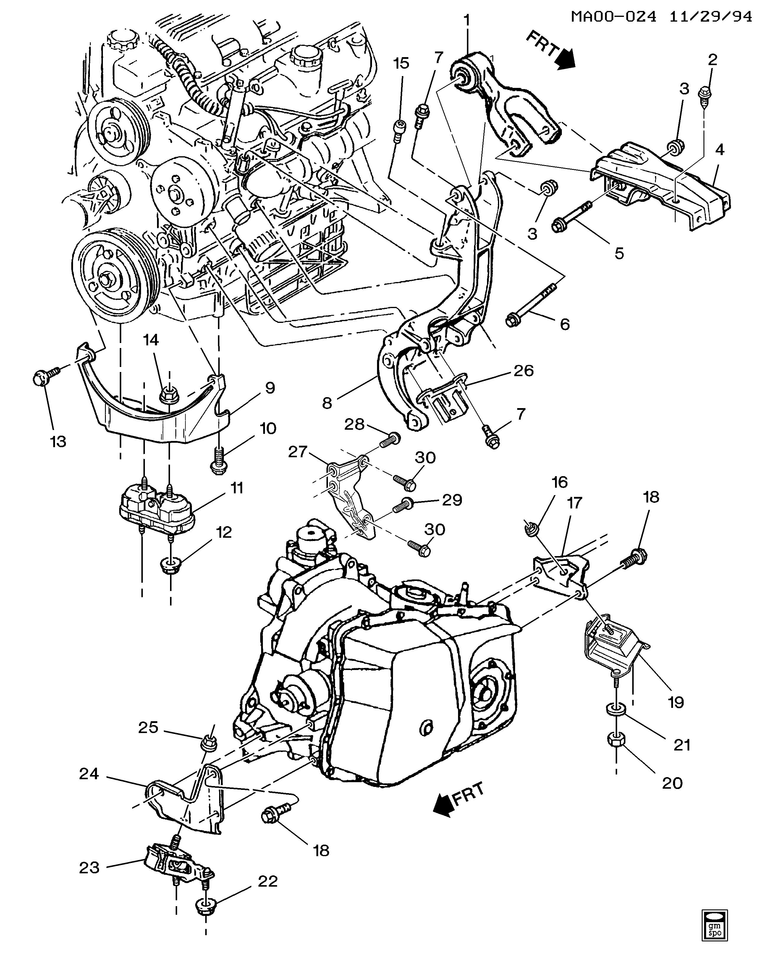 [DIAGRAM_38IU]  Buick Century - A ENGINE & TRANSMISSION MOUNTING-V6 (L82/3.1M) > EPC Online  > Nemiga.com | Buick Century Engine Diagram 5 7 |  | nemigaparts.com