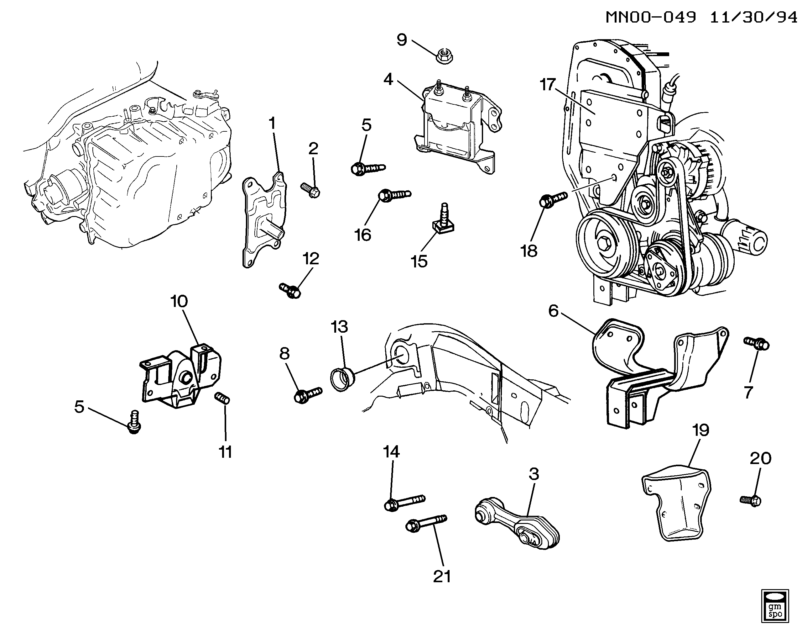 94 grand am engine diagram pontiac grand am n engine   transmission mounting l4 2 3l  l40  transmission mounting l4 2 3l