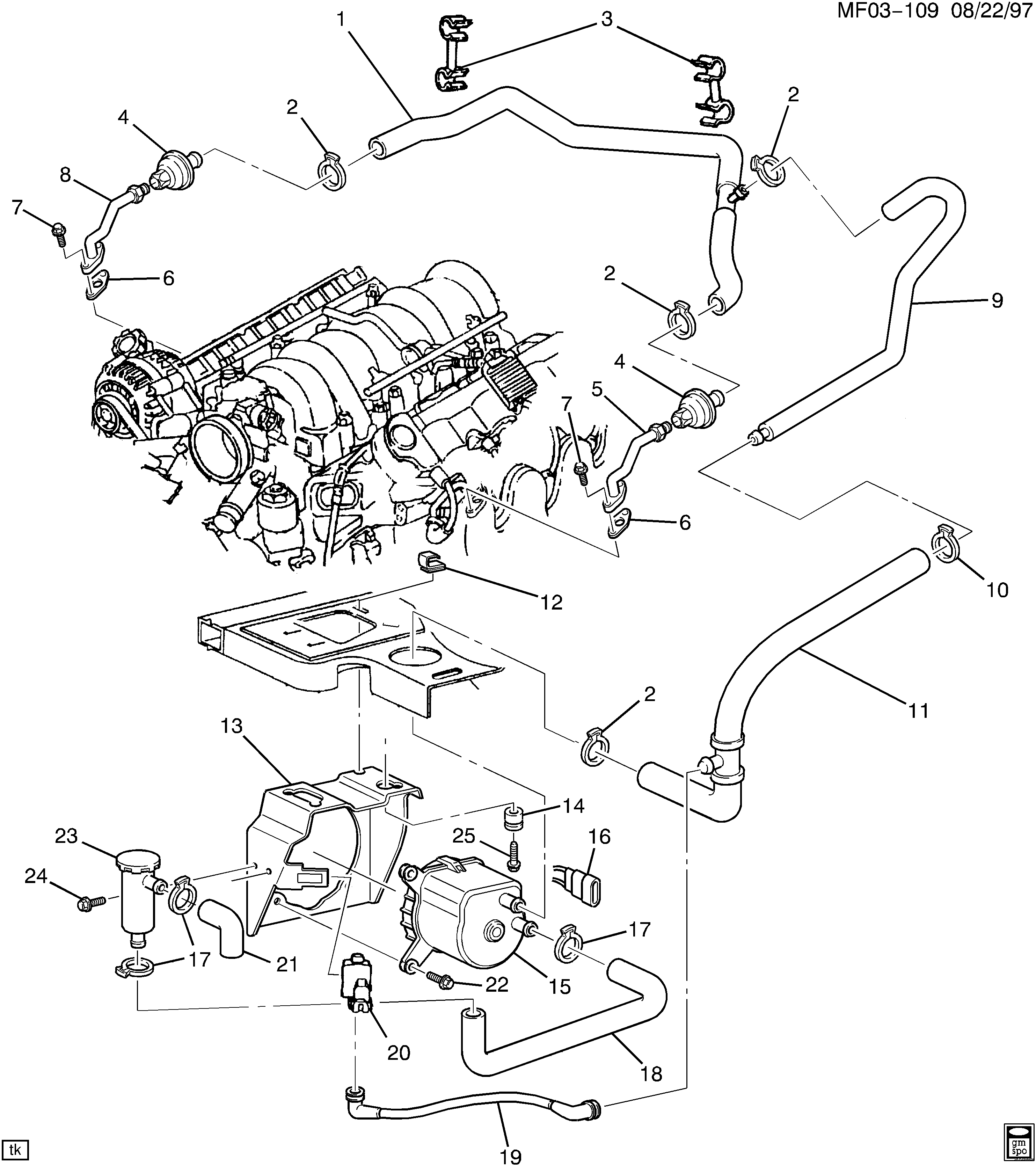 Pontiac Firebird F Air Pump Related Parts Ls1 57g Epc 2003 Chevy Venture Engine Diagram Spare Catalog