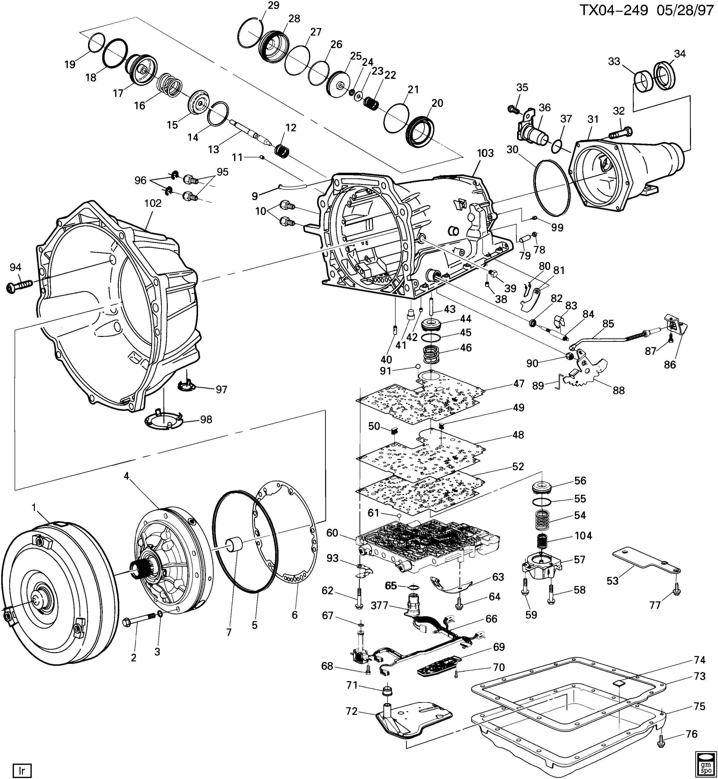 4l60e automatic transmission diagram daily update wiring 4l60e transmission wiring harness diagram 4l60e automatic transmission parts diagram #14
