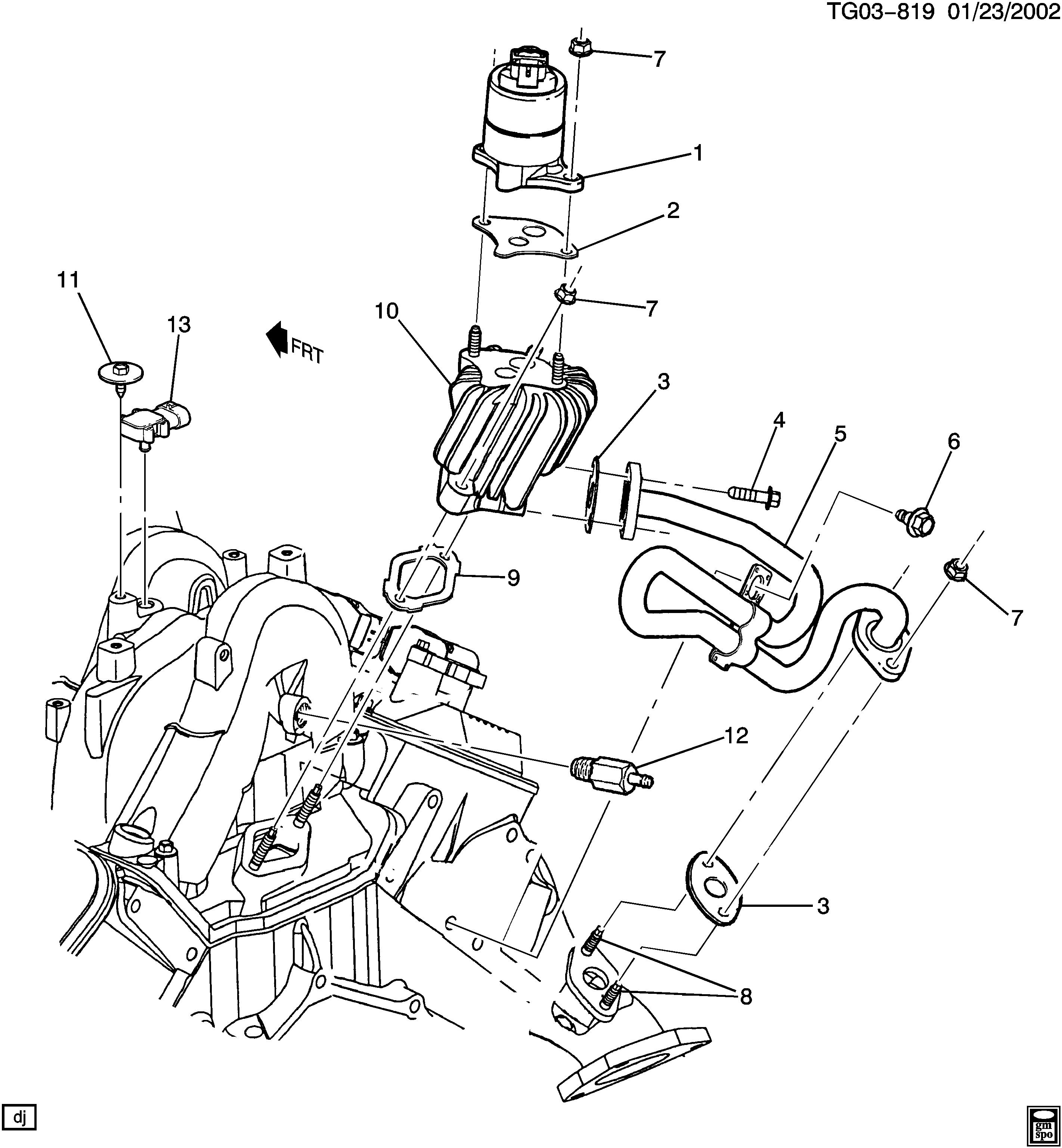 ACDelco 219-330 EGR Valve Gasket