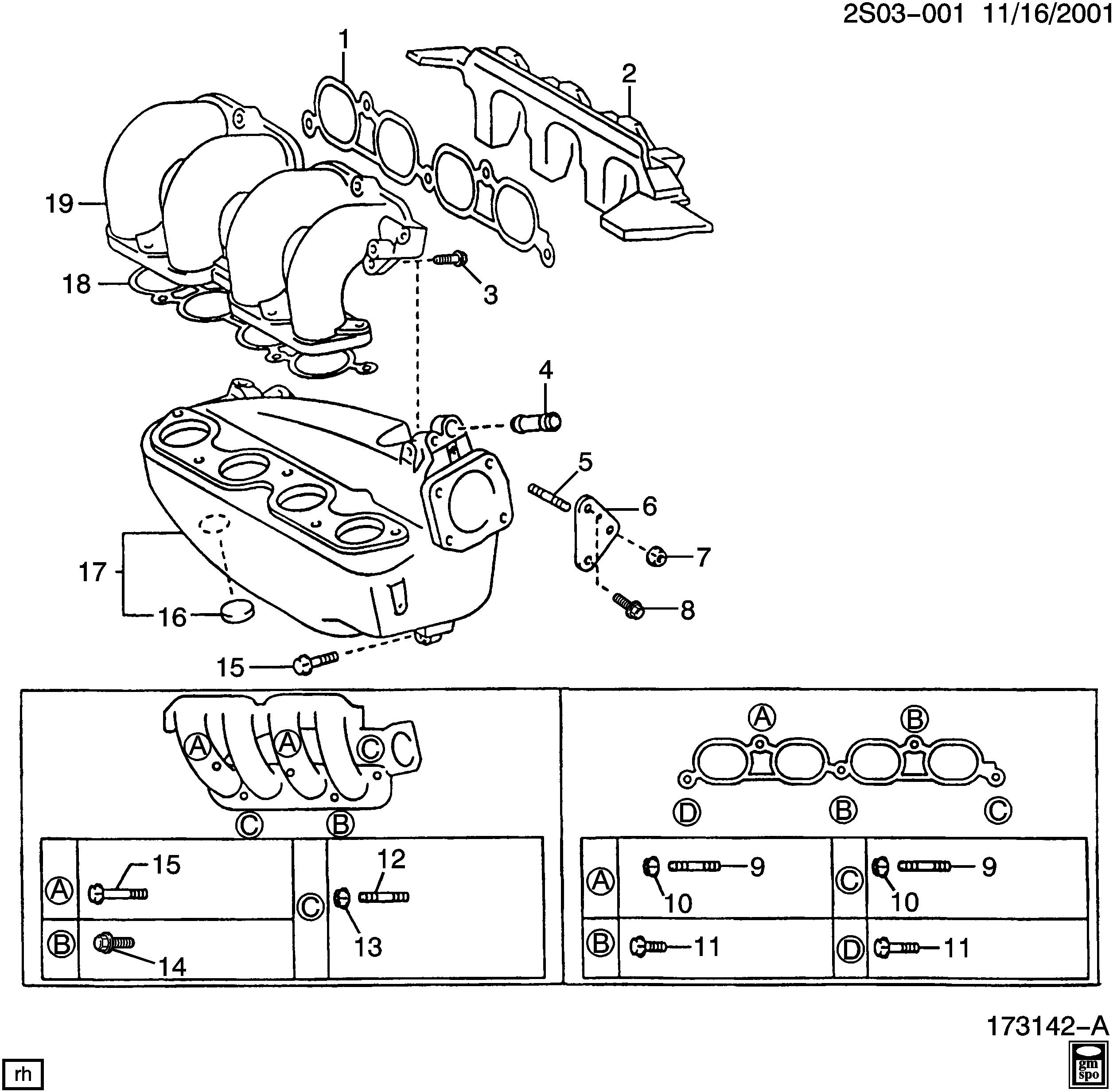 pontiac vibe / spare parts catalog epc