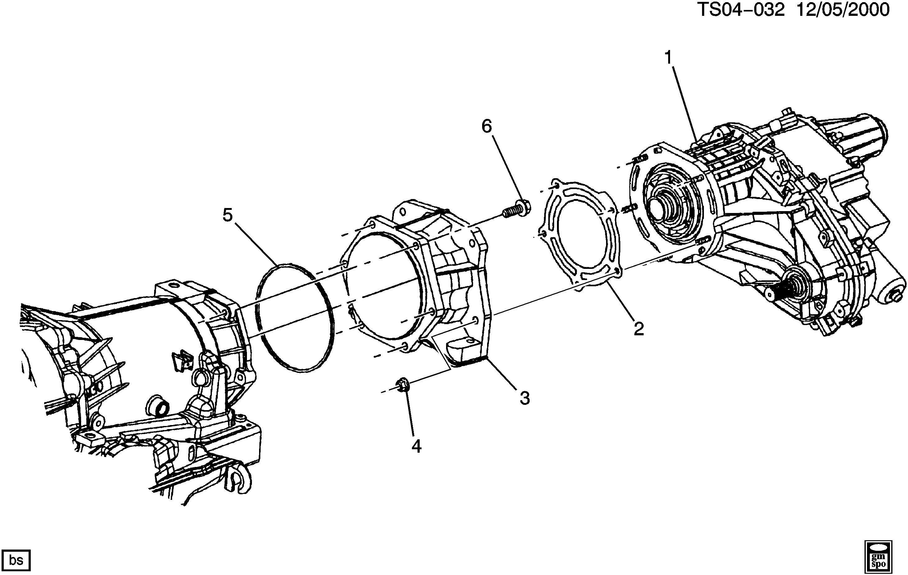TRAILBLAZER 4WD Transfer case adapter Chevrolet EPC line