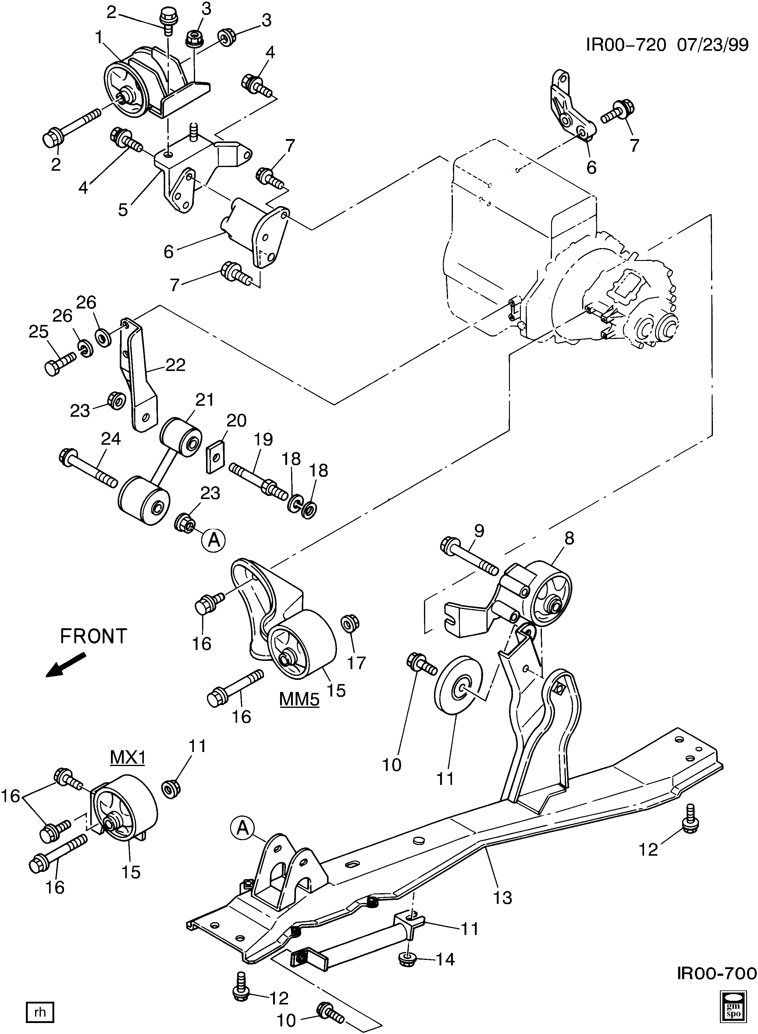 geo storm engine mounting l4 \u003e chevrolet epc online Honda Engine Diagram