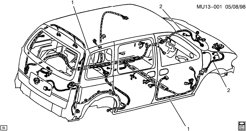 Oldsmobile Silhouette Apv U Wiring Harness Body Epc Online Nemigacom