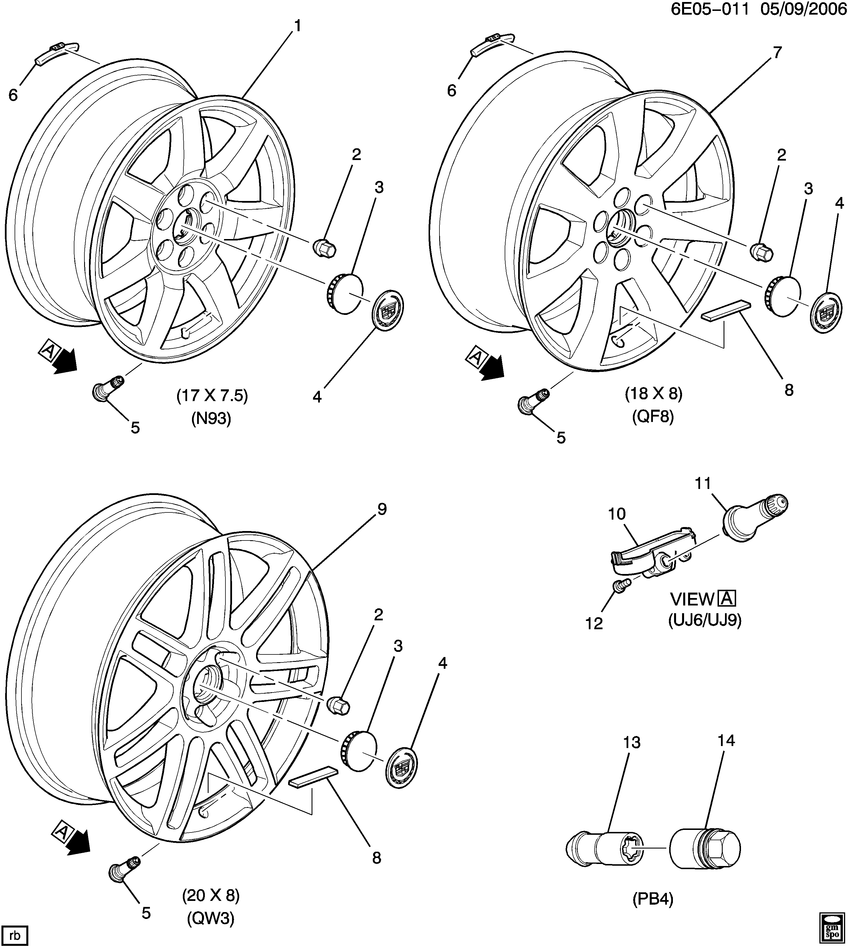 Cadillac Wheel Diagram