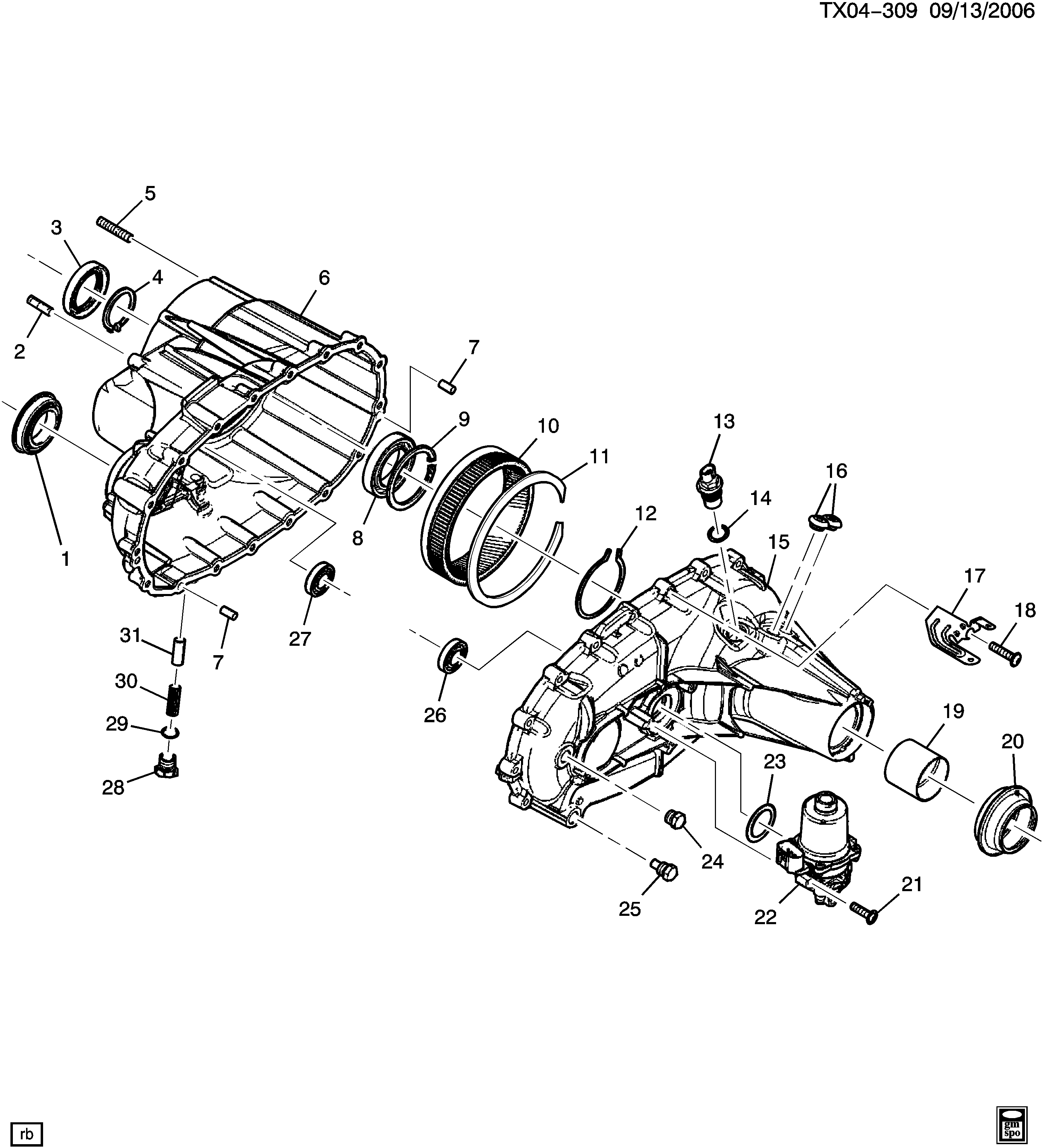 mp1625 transfer case parts