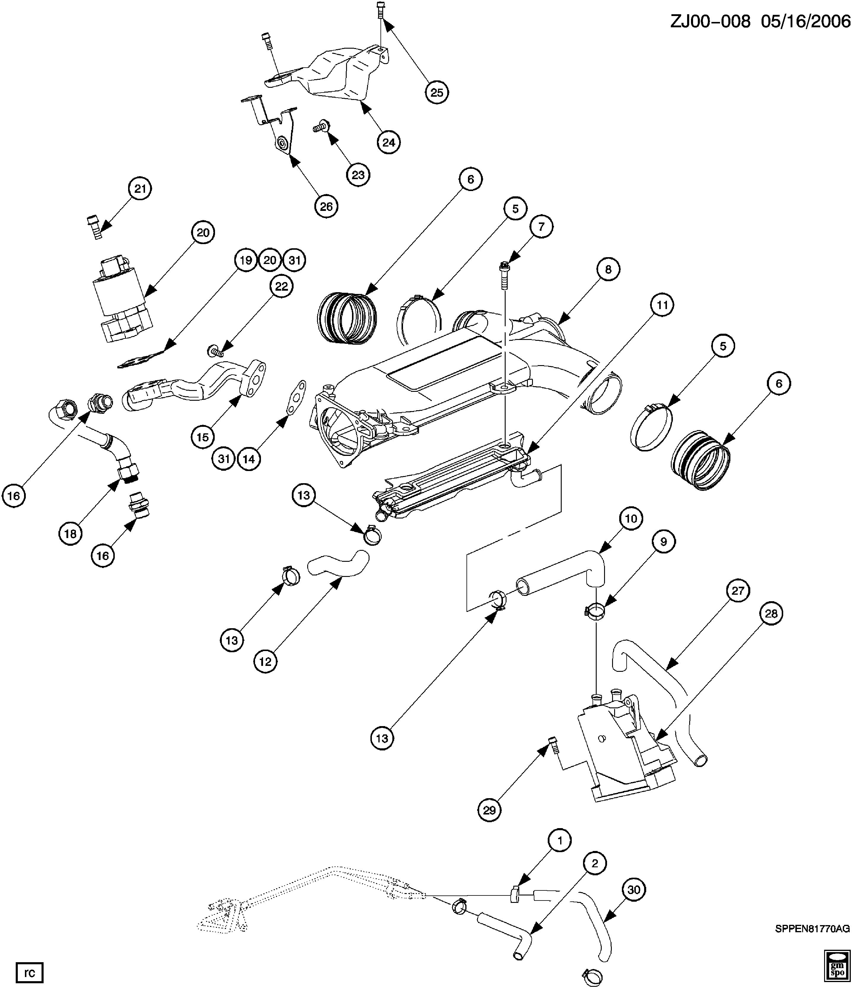 [SCHEMATICS_4ER]  Saturn L-Series - J ENGINE ASM-3.0L V6 INTAKE MANIFOLD PLENUM(L81/3.0R) >  EPC Online > Nemiga.com | L81 Engine Diagram |  | Parts catalogs