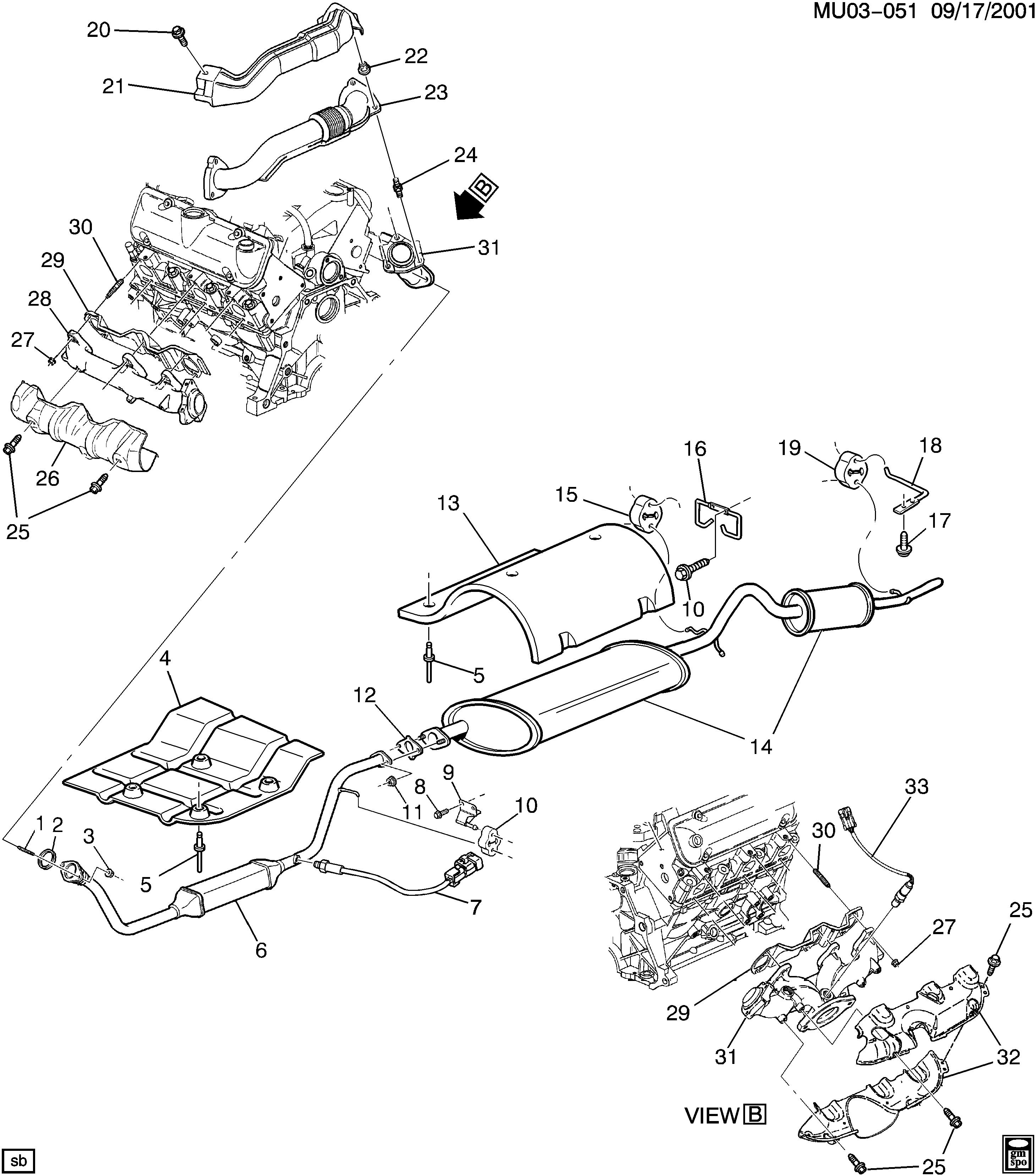 pontiac montana apv u exhaust system v6 la1 3 4e exc nm8 Mach II Maintenance u exhaust system v6 la1 3 4e exc nm8