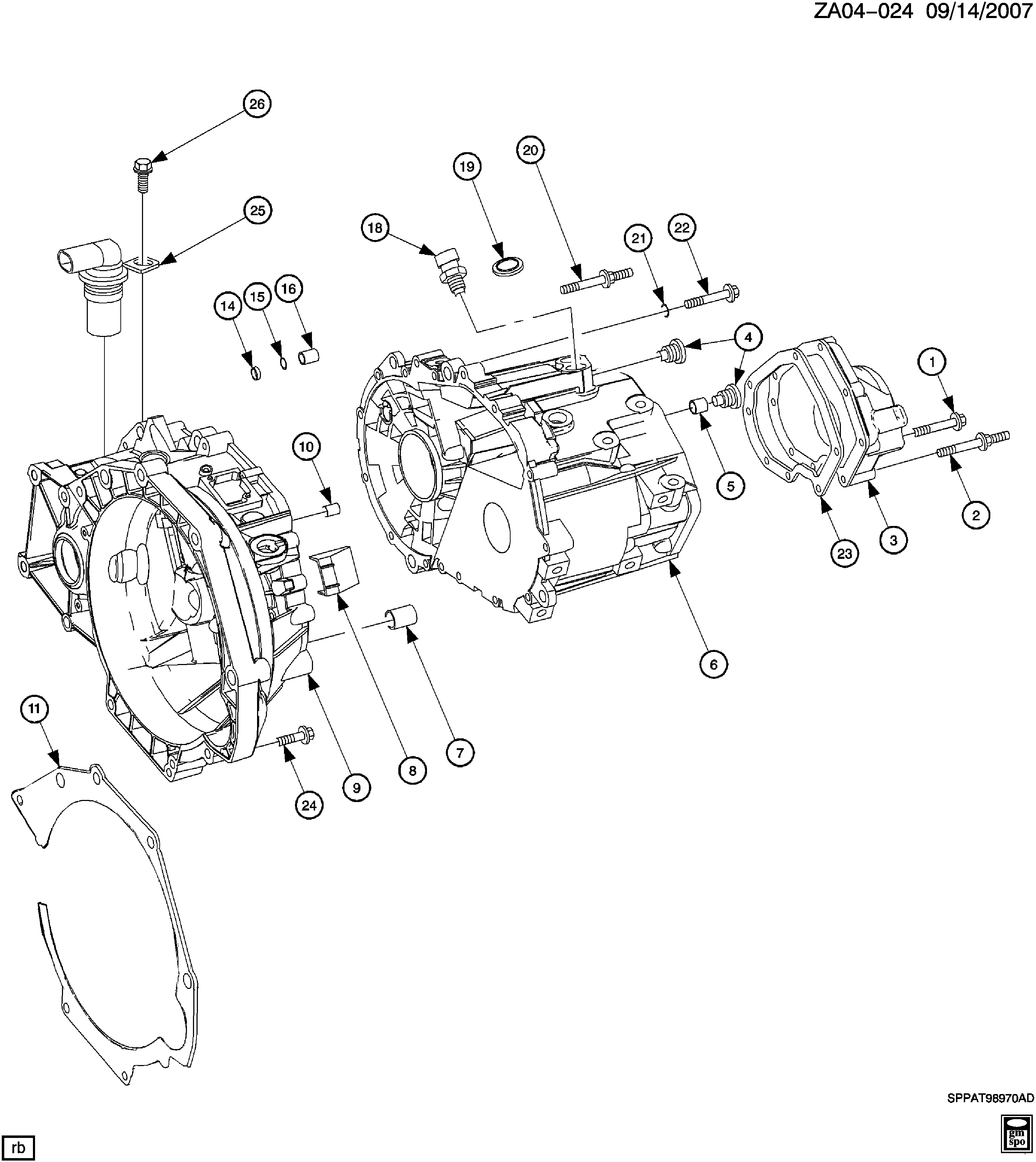 Saturn Ion A 5 Speed Manual Transaxle Mu3 Case Cover Related Parts Diagram Spare Catalog Epc