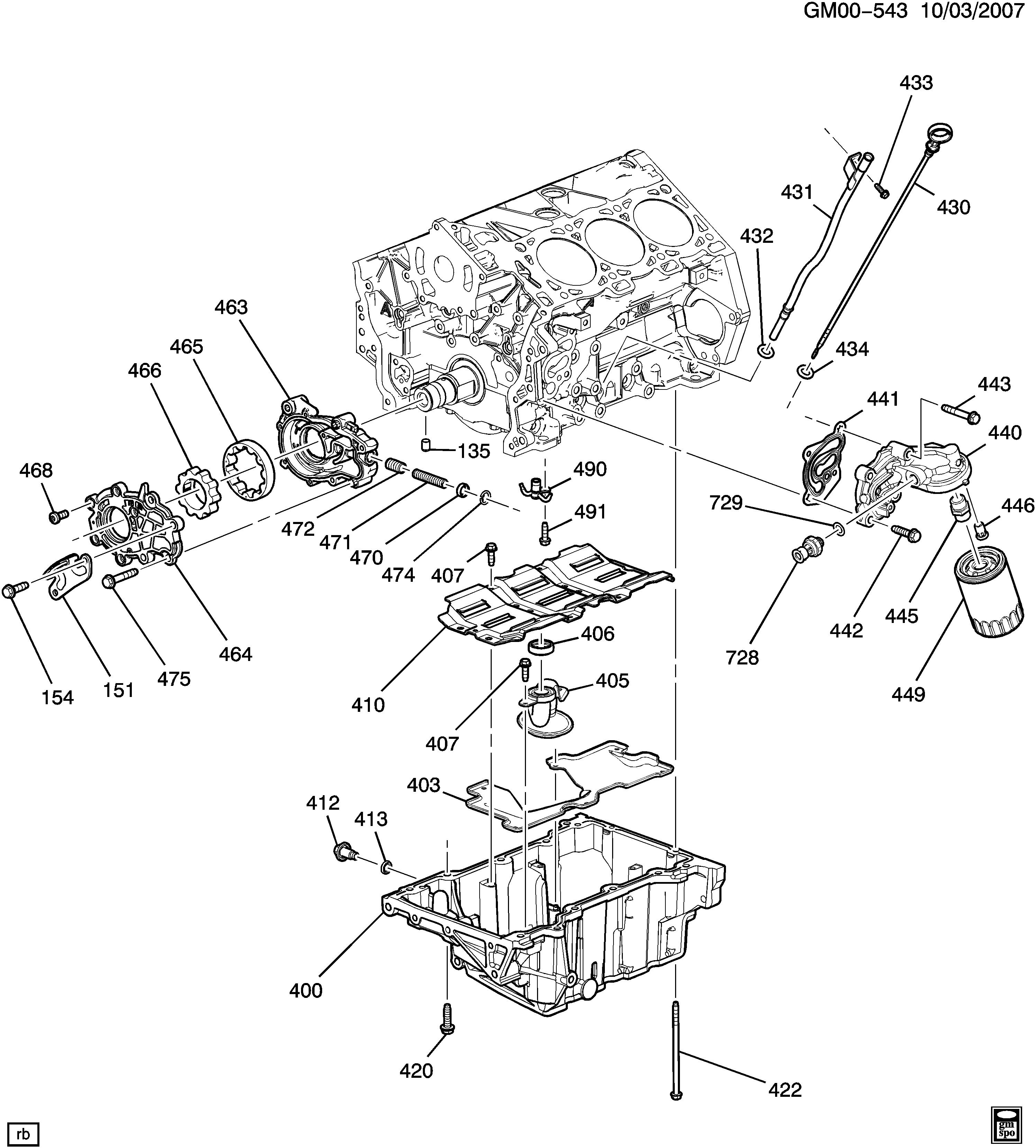 Buick Rendezvous - B ENGINE ASM-3 6L V6 PART 4 OIL PUMP,OIL
