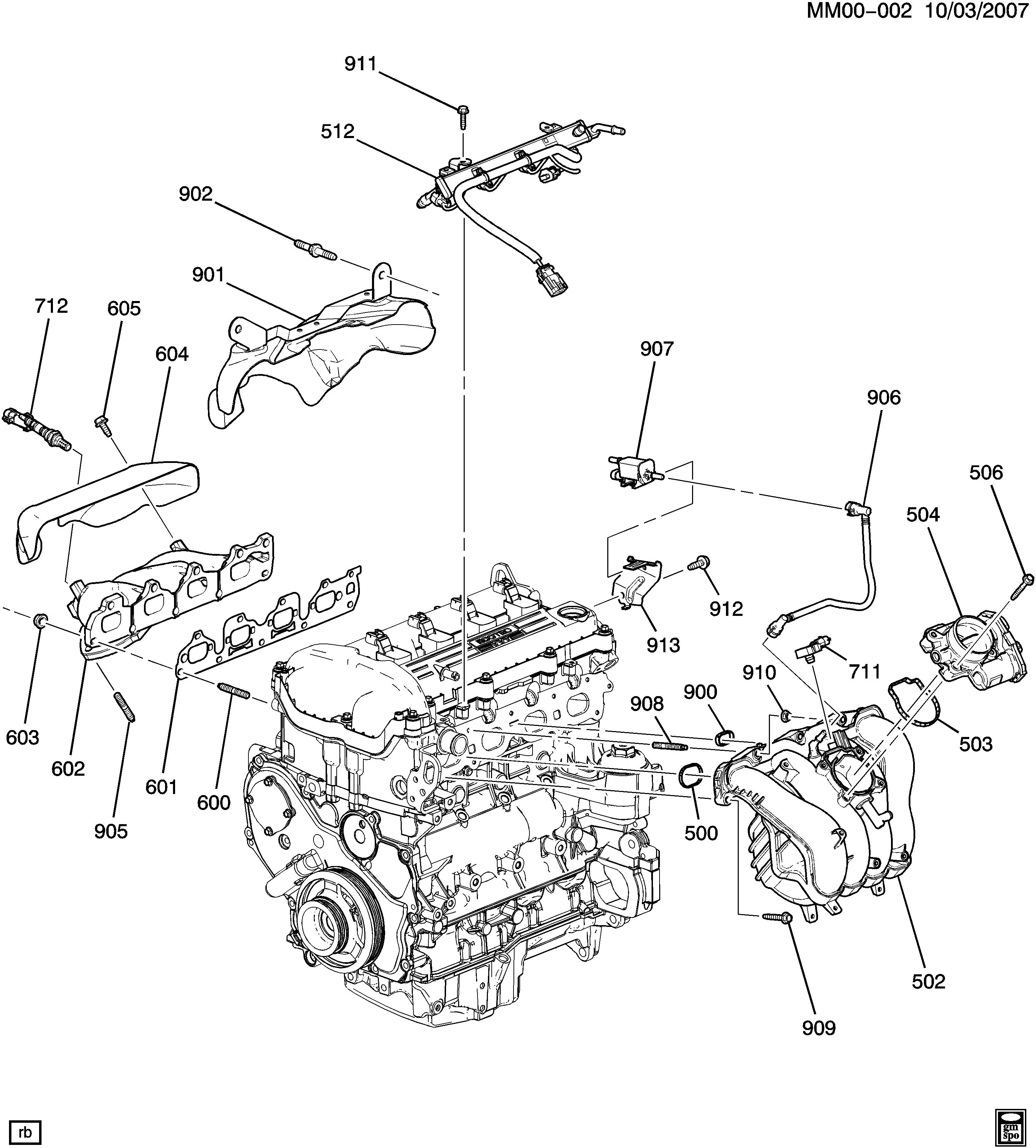 saturn sky - m engine asm-2.4l l4 part 6 manifolds & fuel related parts  (le5/2.4b) > epc online > nemiga.com  parts catalogs