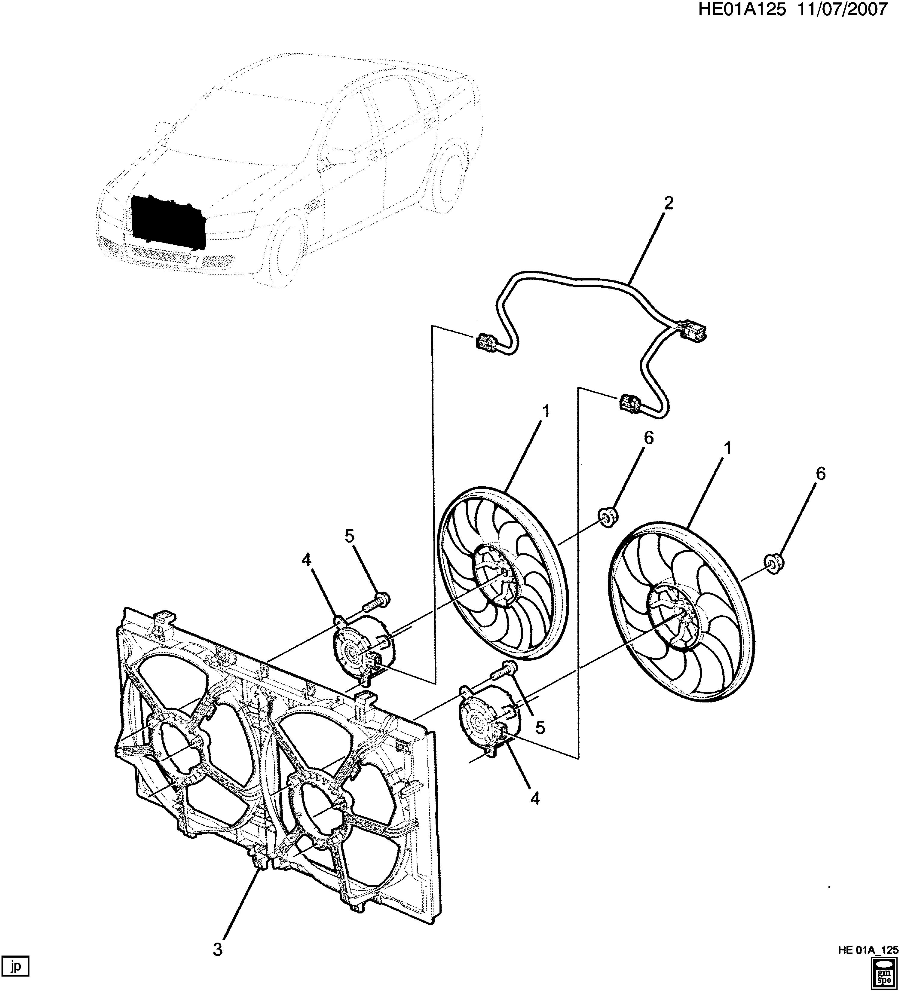 [SCHEMATICS_48DE]  Pontiac G8 - E ENGINE COOLANT FAN (L76/6.0Y) > EPC Online > Nemiga.com | L76 Engine Diagram |  | nemigaparts.com