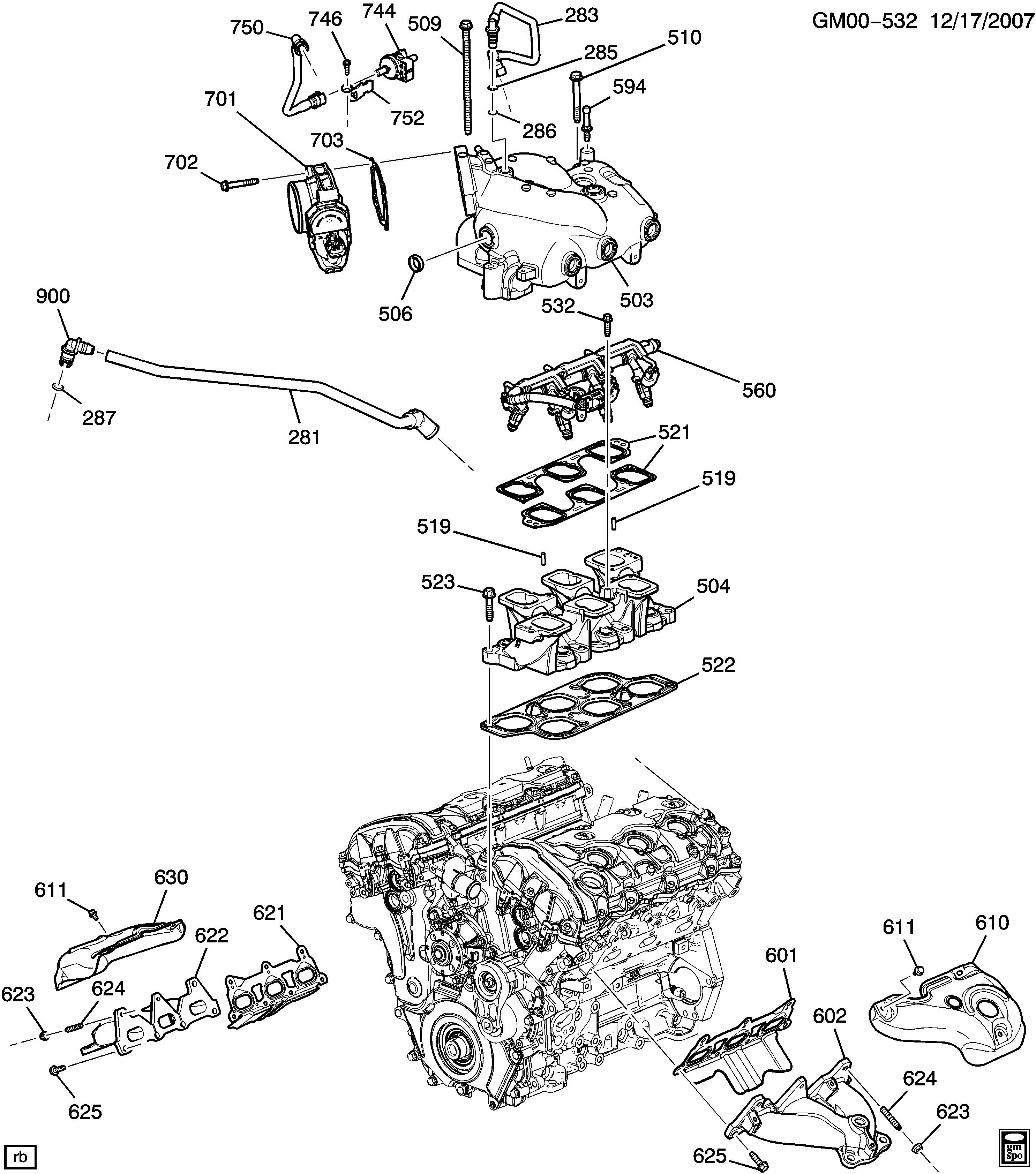 pontiac torrent l engine asm 3 6l v6 part 6 manifolds related Ford Mach 2 l engine asm 3 6l v6 part 6 manifolds related parts ly7 3