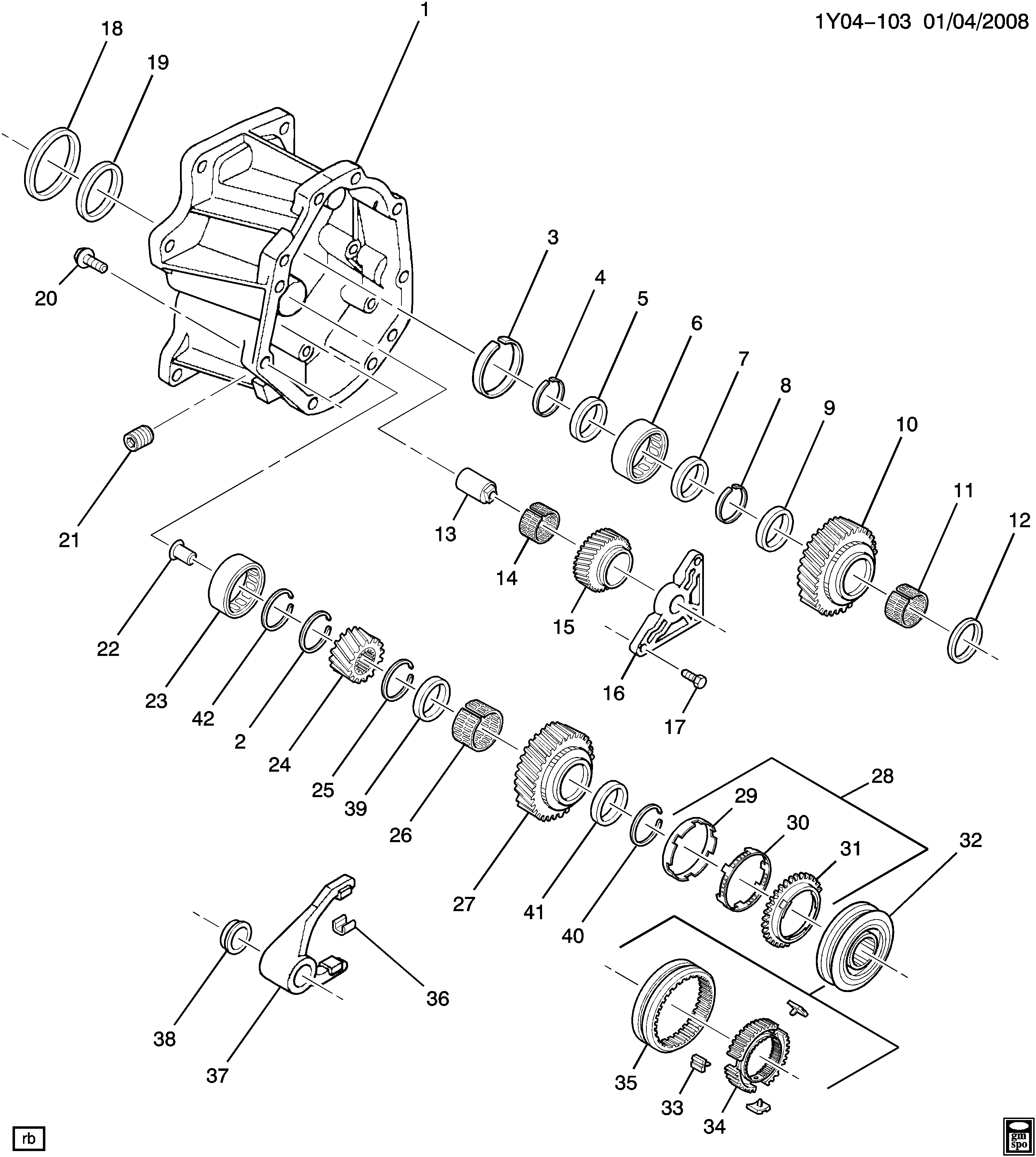 GM Genuine Parts 19209010 Manual Transmission Reverse Gear Manual ...
