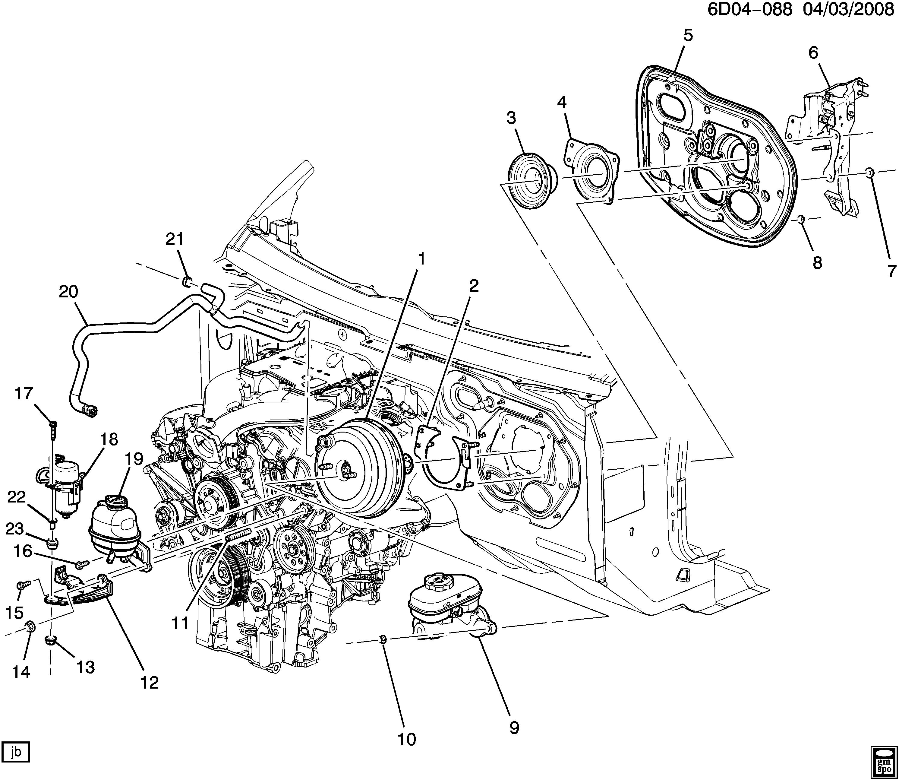 2004 cadillac cts parts list