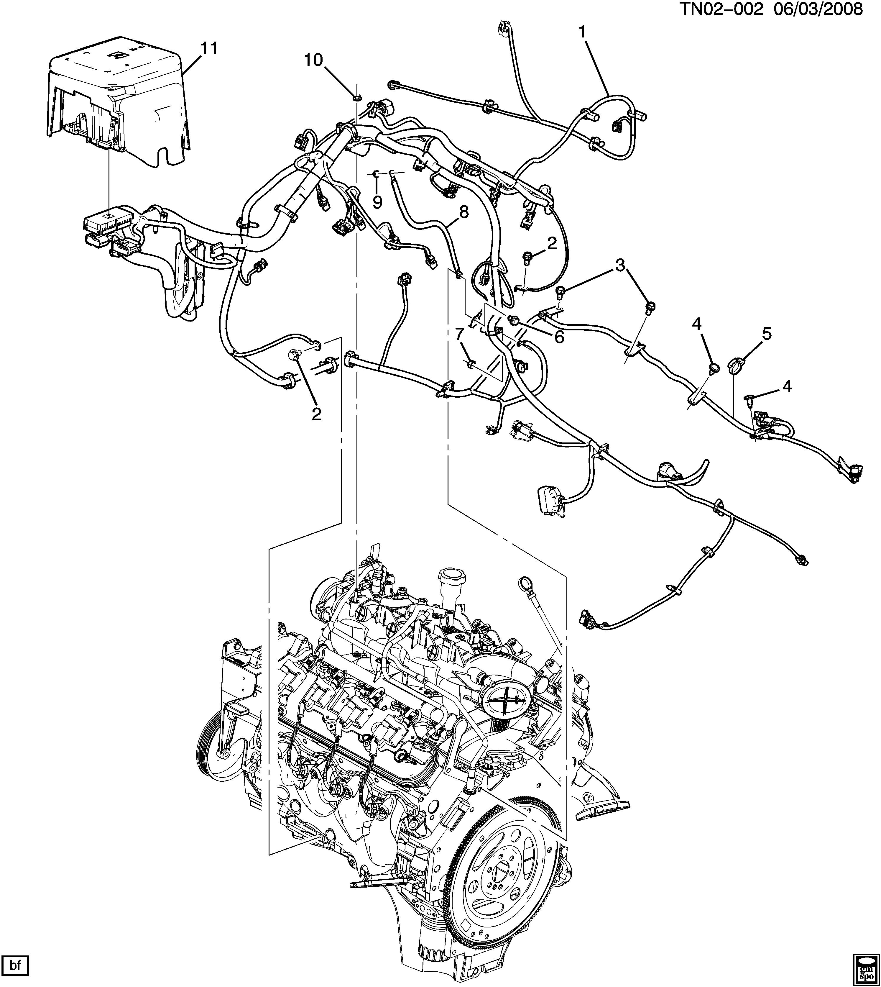 hummer h2 n2 wiring harness engine (lq4 6 0u) \u003e epc online LQ4 Firing Order