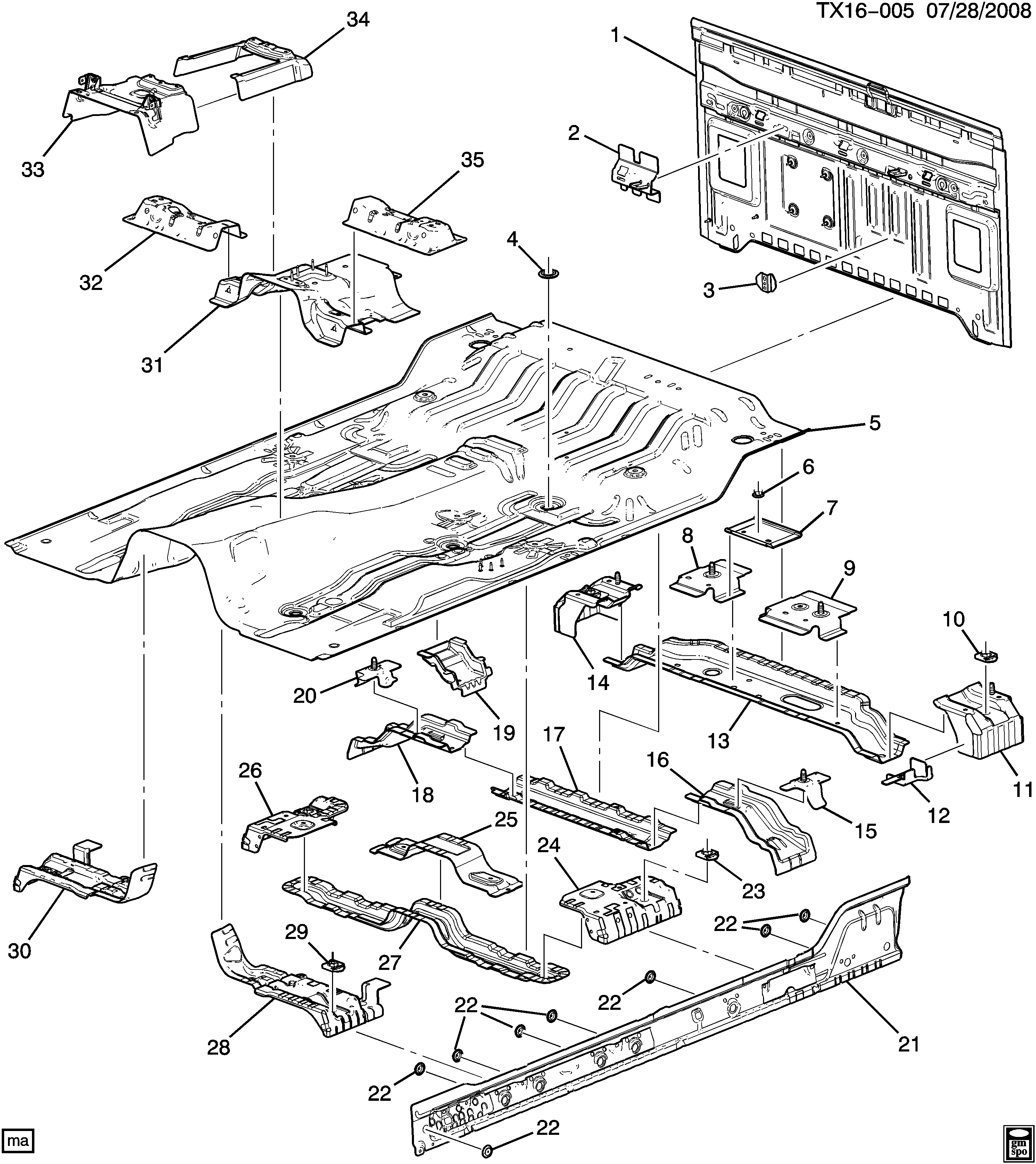 Hummer H3 Body Parts Diagram