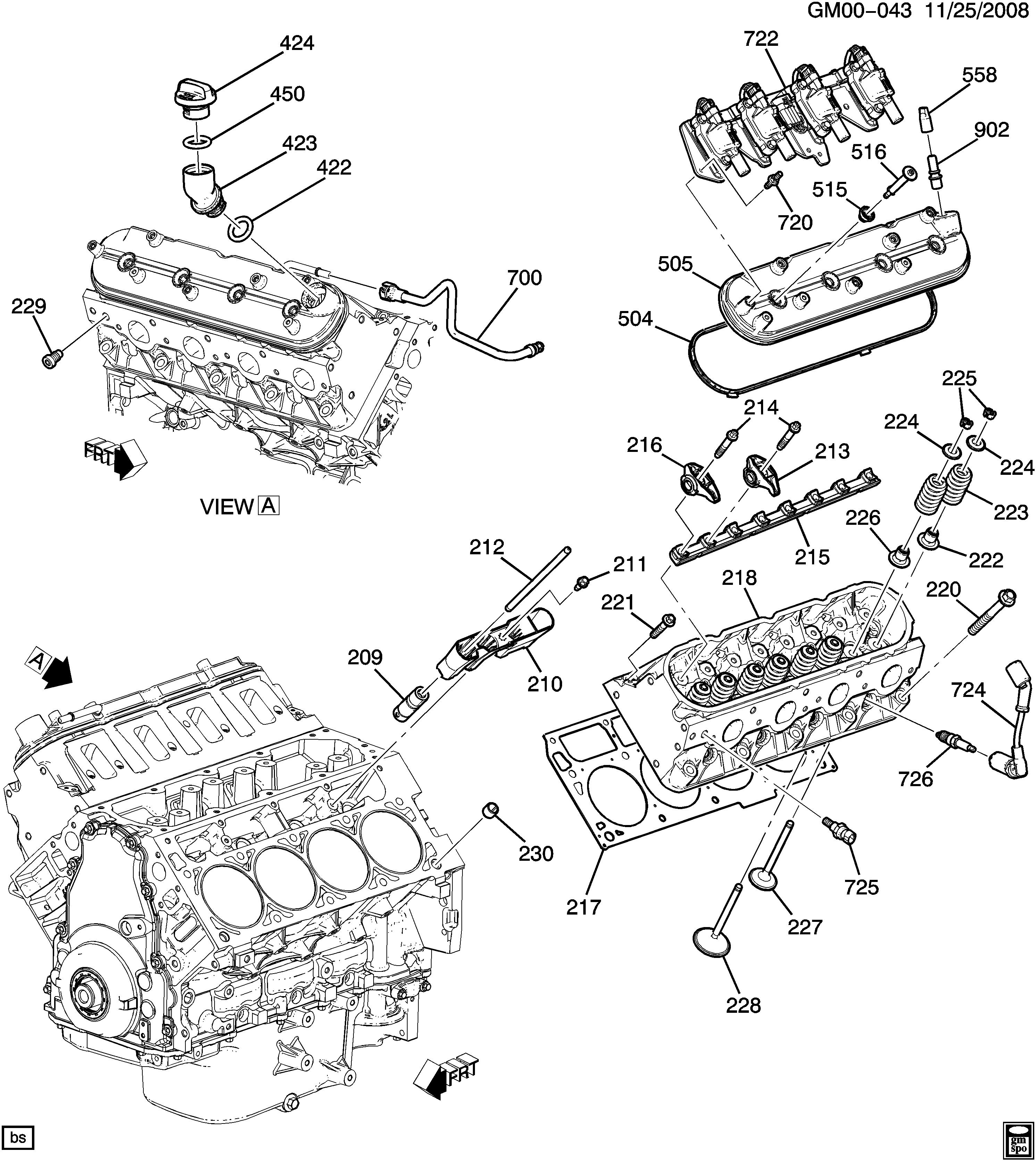 Camaro Convertible - Engine asm-6.2l v8 part 2 cylinder head & related parts  > Chevrolet EPC Online > Nemiga.com | Chevrolet L99 Engine Diagram |  | Parts catalogs