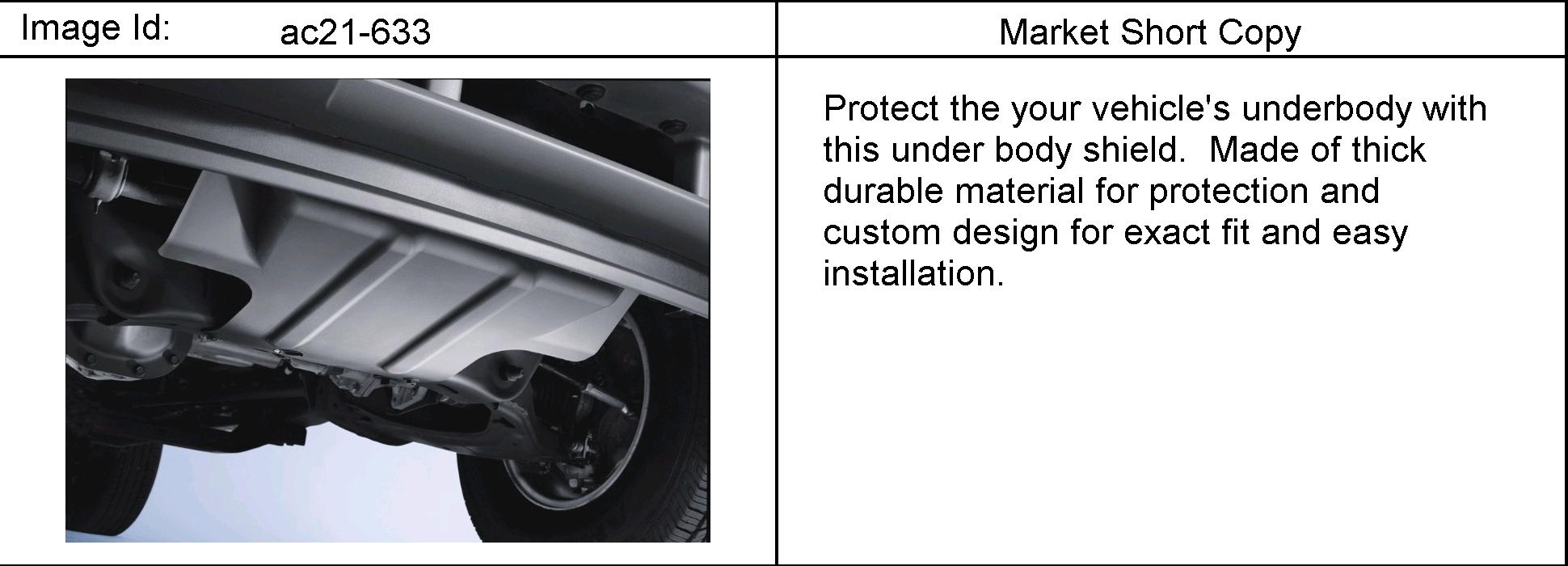 Buick RAINIER 4WD - ST155,158 SHIELD PKG/UNDERBODY > EPC Online