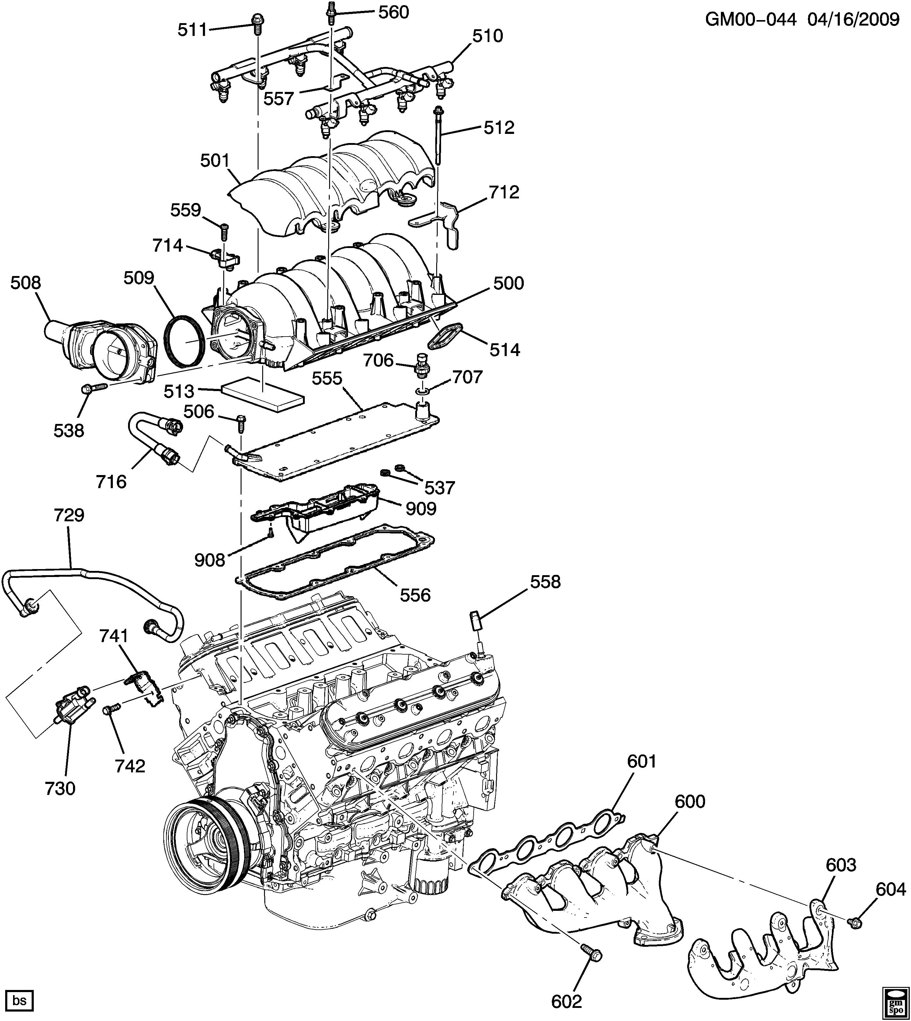 Camaro Convertible - Engine asm-6.2l v8 part 5 manifolds & related parts >  Chevrolet EPC Online > Nemiga.com | Chevrolet L99 Engine Diagram |  | Parts catalogs