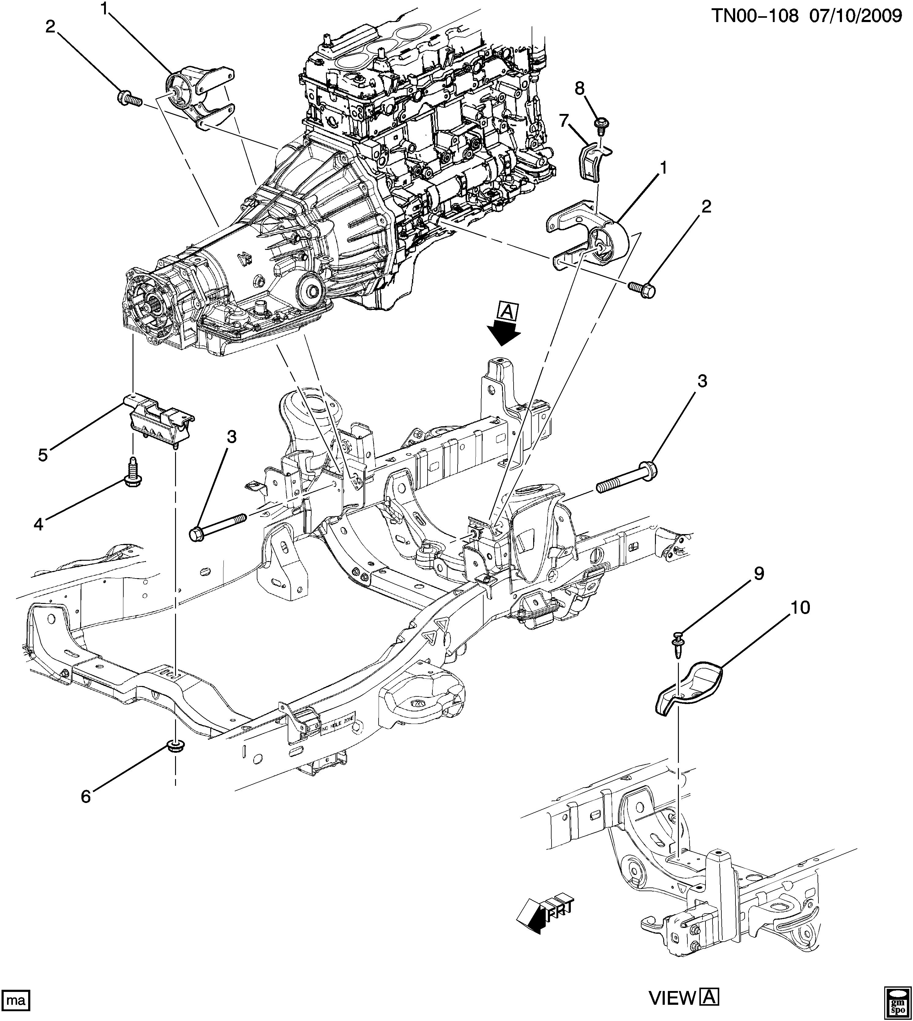 2009 hummer h3 engine diagram hummer h3 n1 engine   transmission mounting epc online  hummer h3 n1 engine   transmission