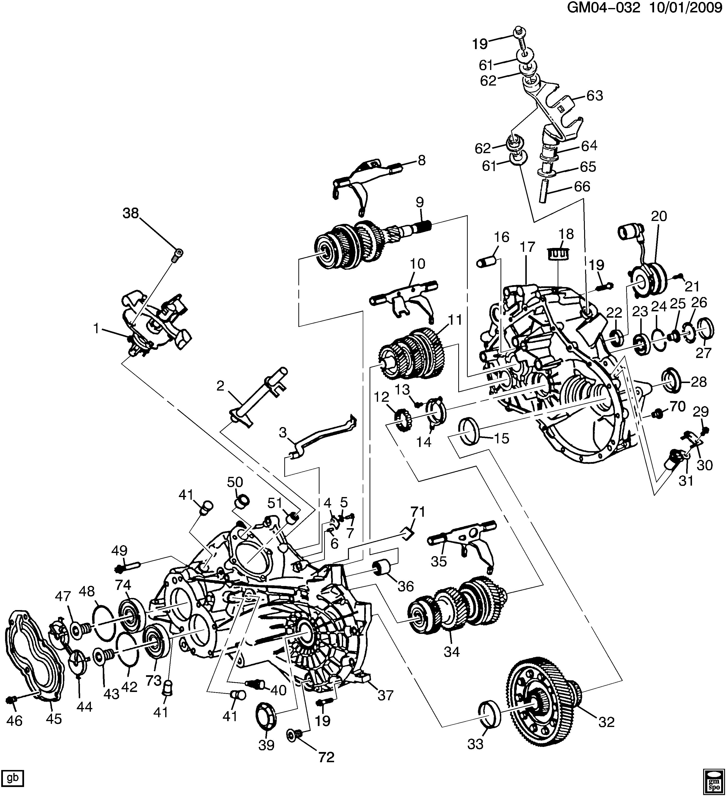 Speed Sensor In M86 5 Speed   Cobalt