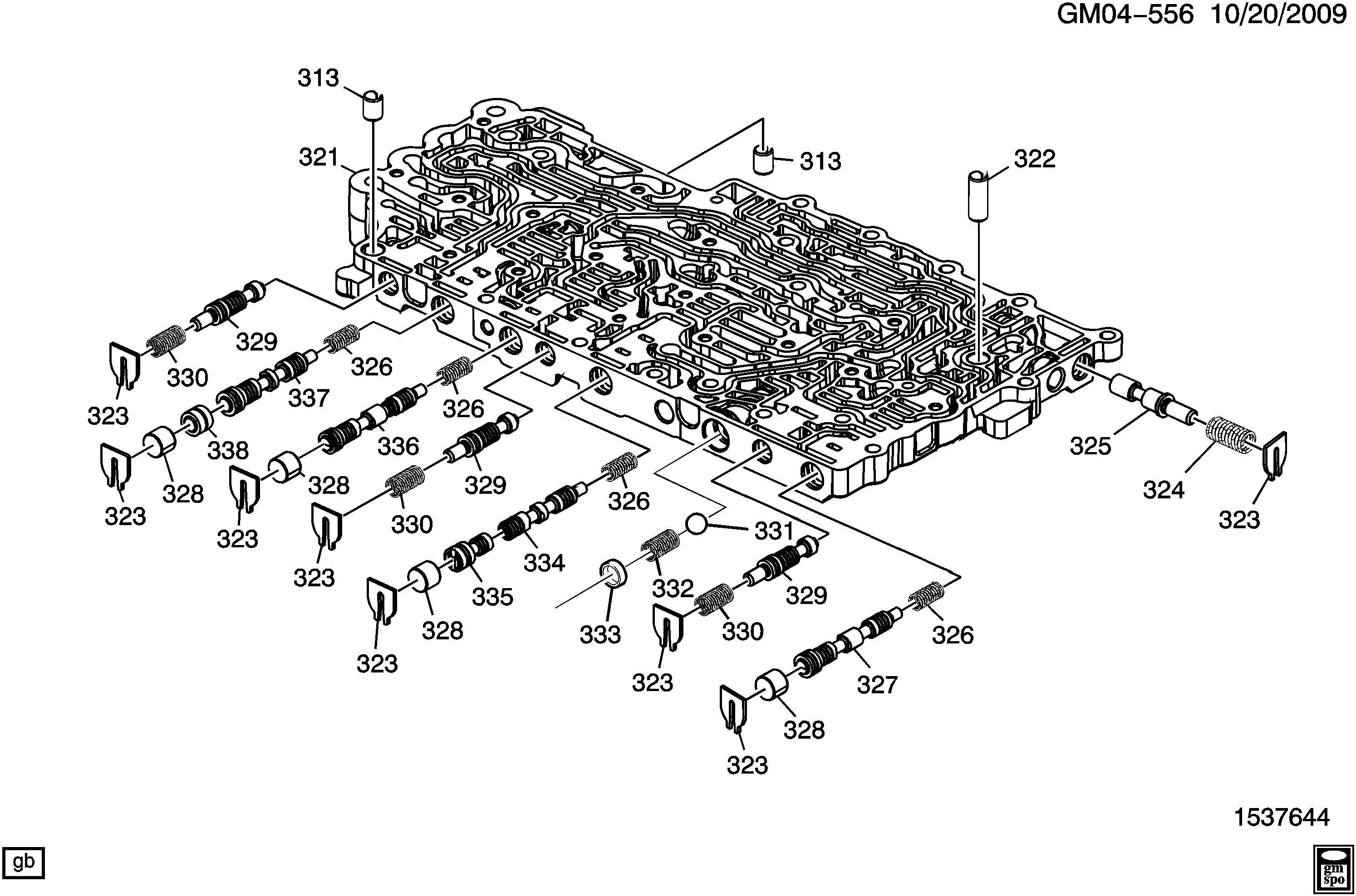 Cadillac STS - DX29 AUTOMATIC TRANSMISSION (MYC) (6L80