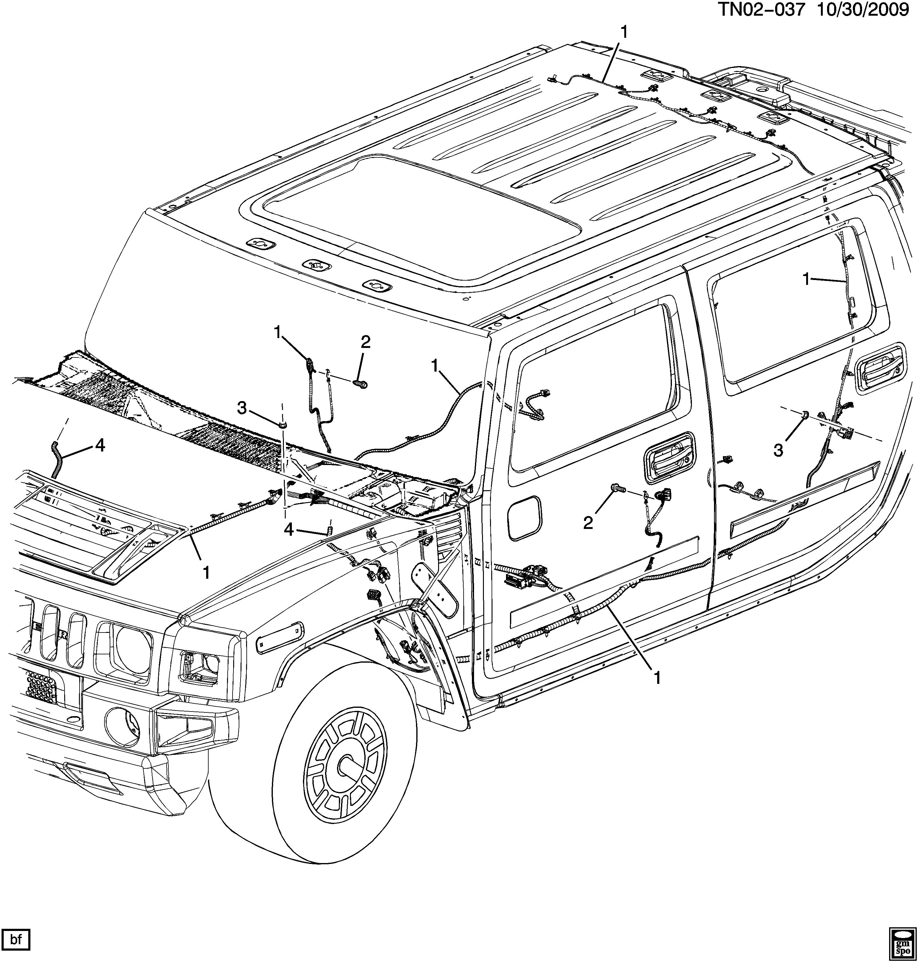 Hummer H2 Wiring Harnes