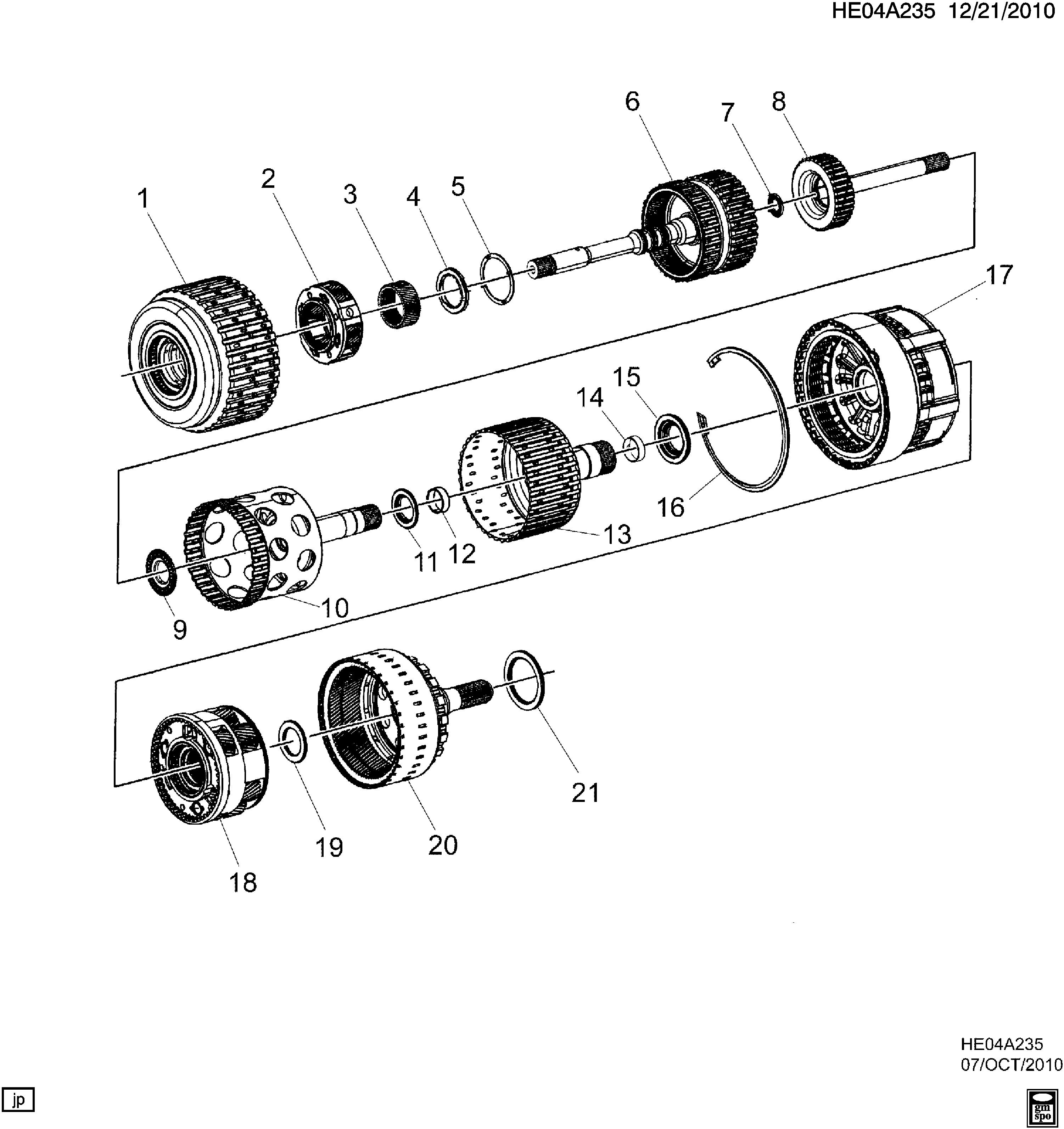 Pontiac G8 - E AUTOMATIC TRANSMISSION (MYC) (6L80) CLUTCH