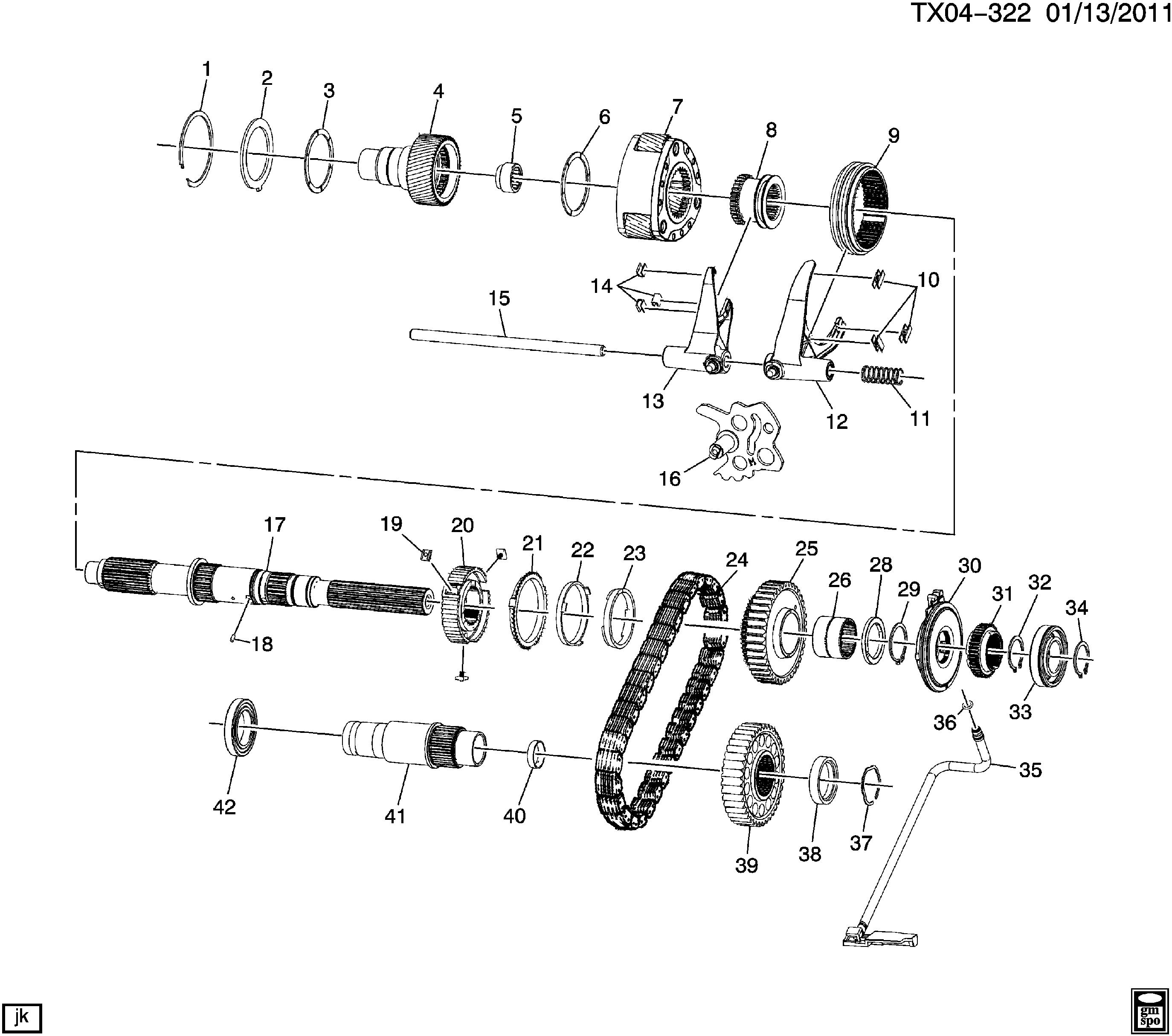gmc sierra transfer case diagram