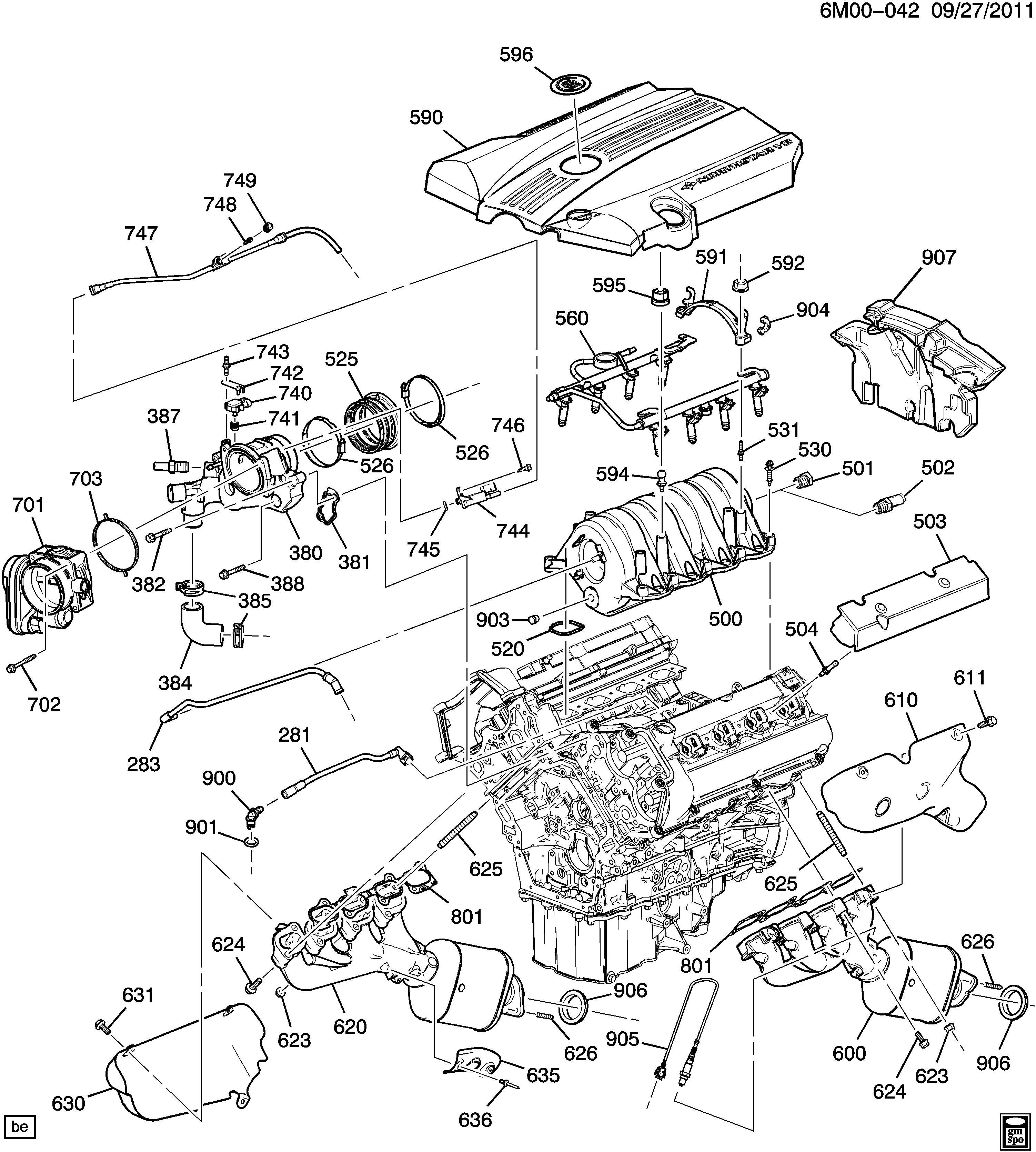 Cadillac STS / Spare parts catalog EPC