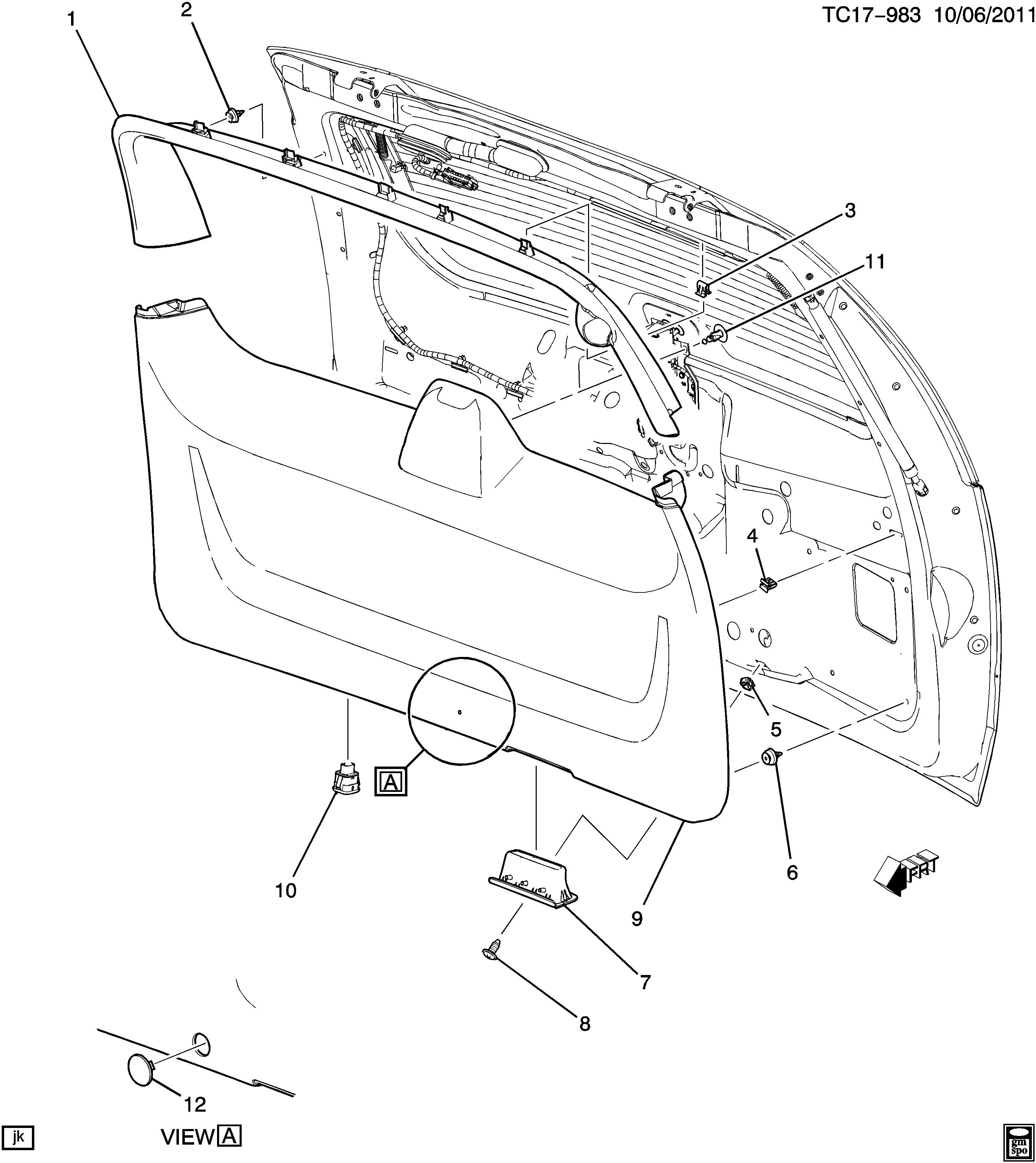2007 cadillac escalade parts diagram