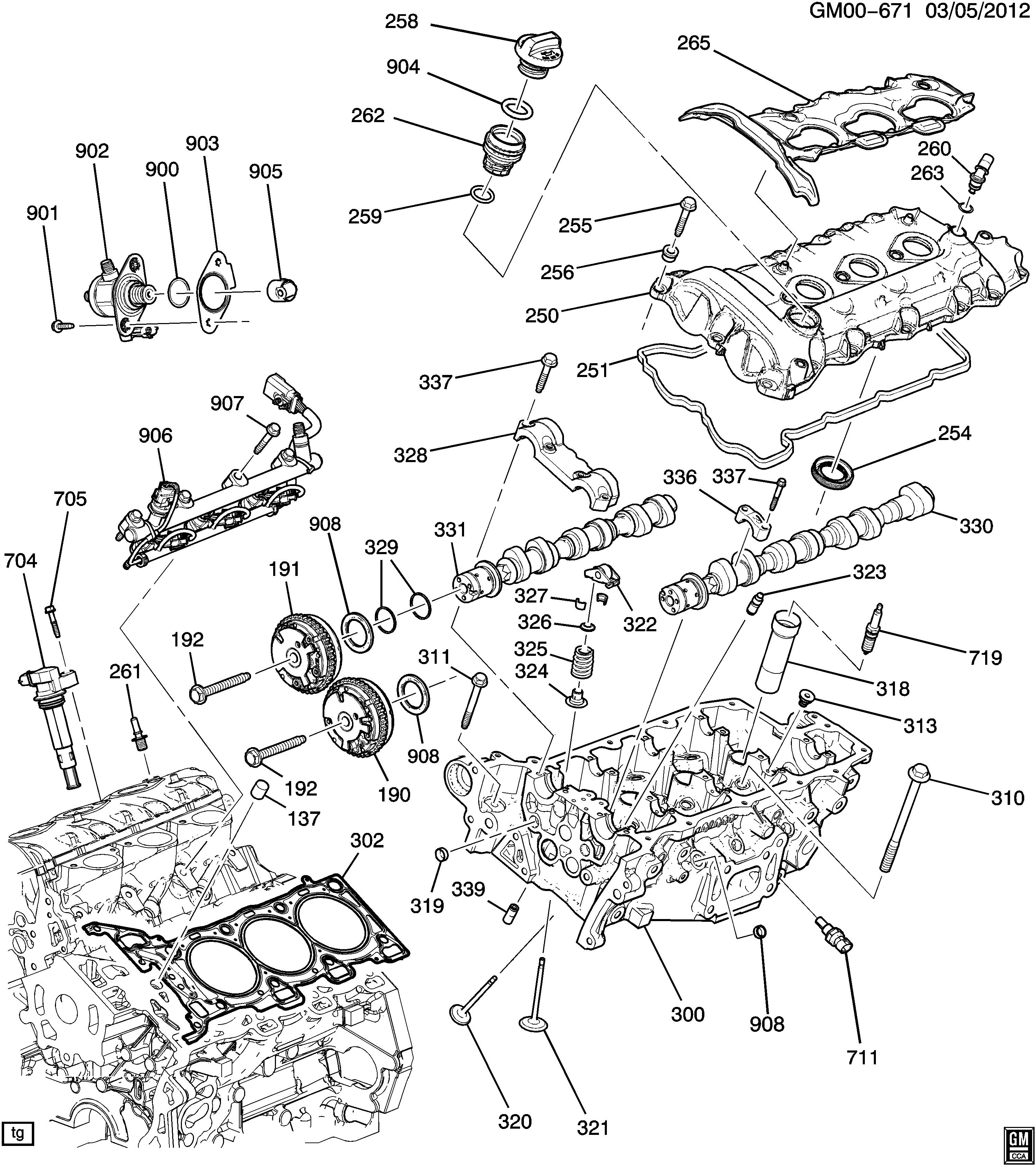 Impala Engine Asm 36l V6 Part 2 Cylinder Head Related Parts Diagram