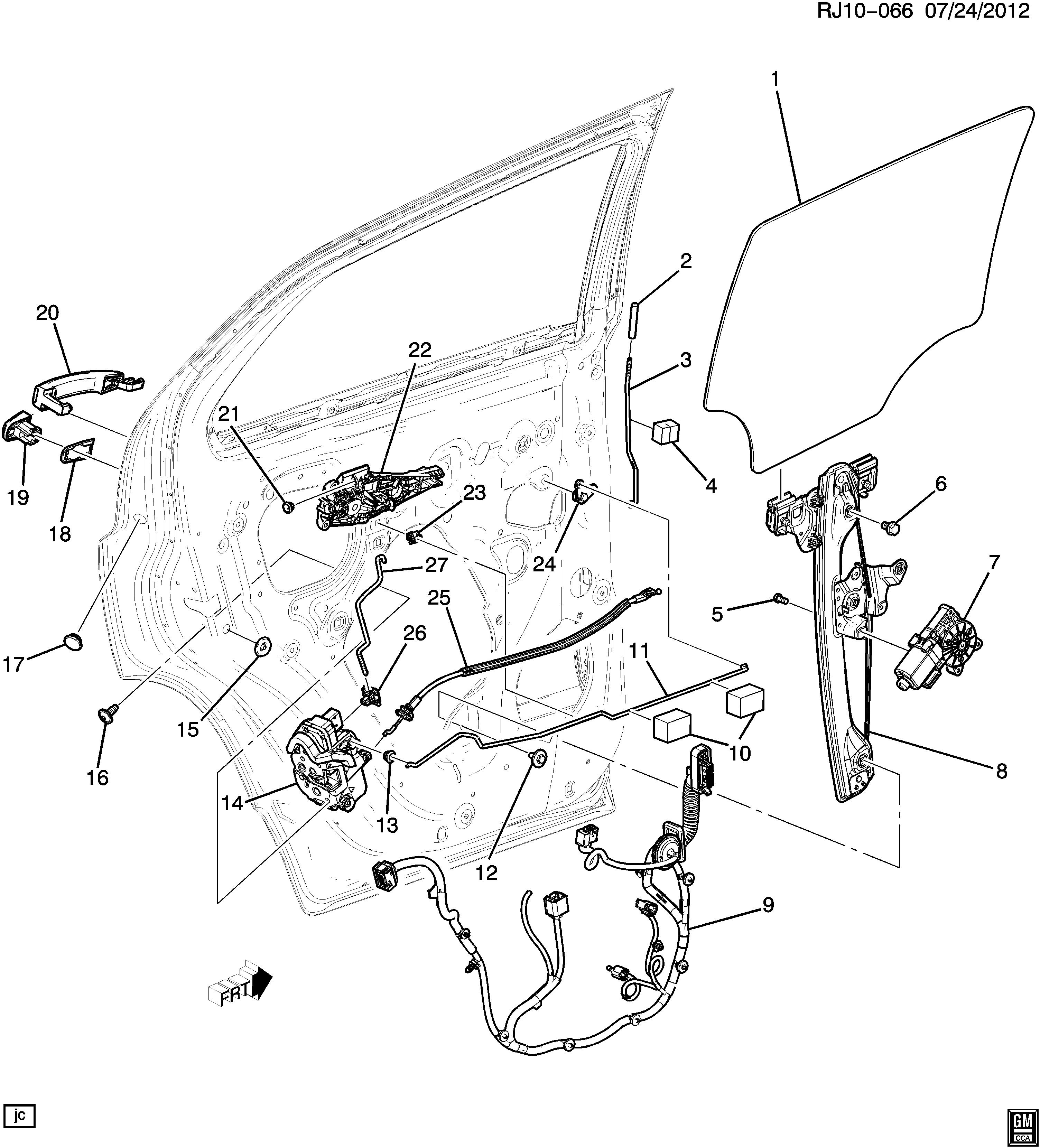 Buick Door Parts Diagram